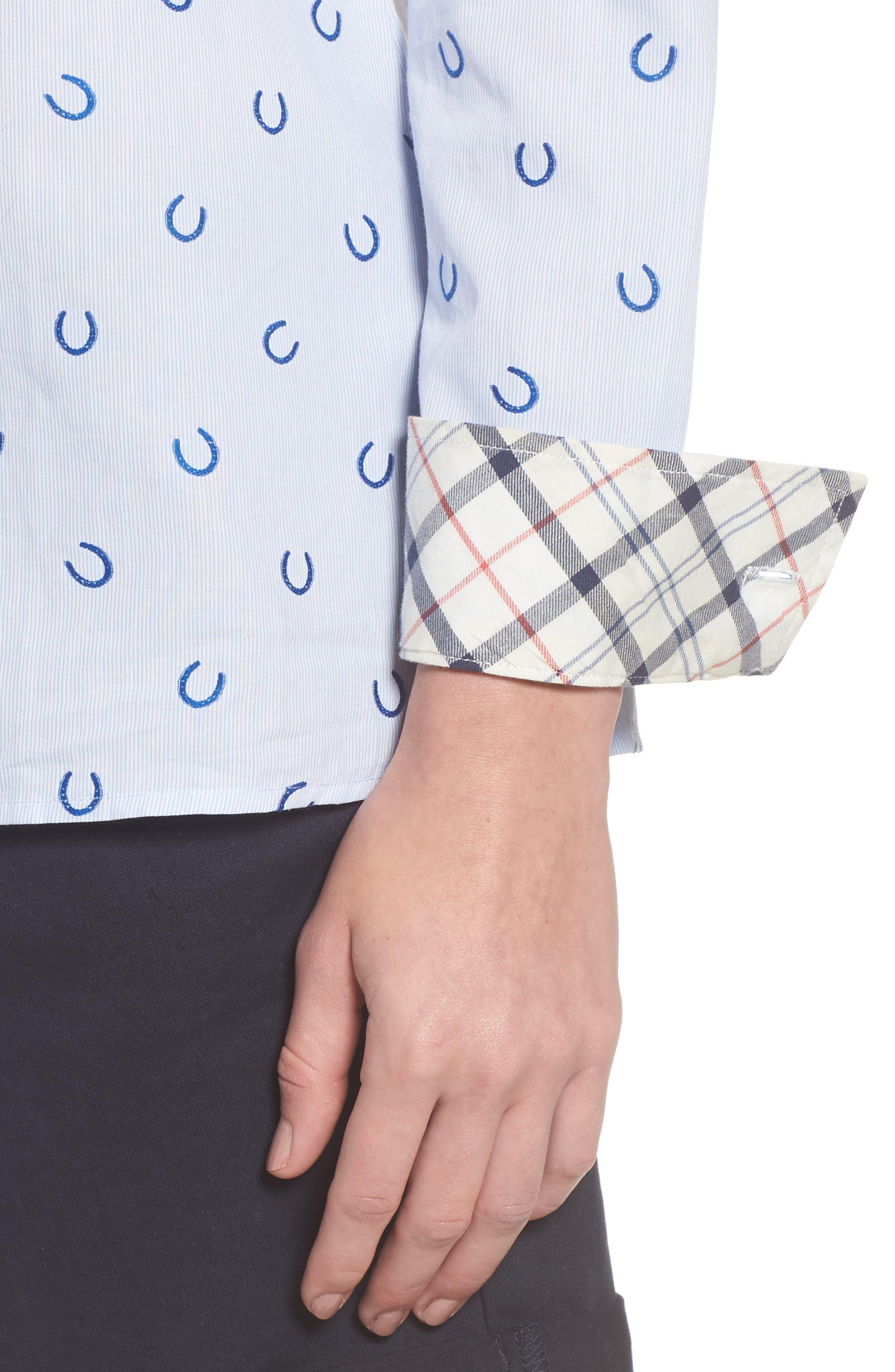Daisyhill Regular Fit Shirt,                             Alternate thumbnail 4, color,                             Pale Blue