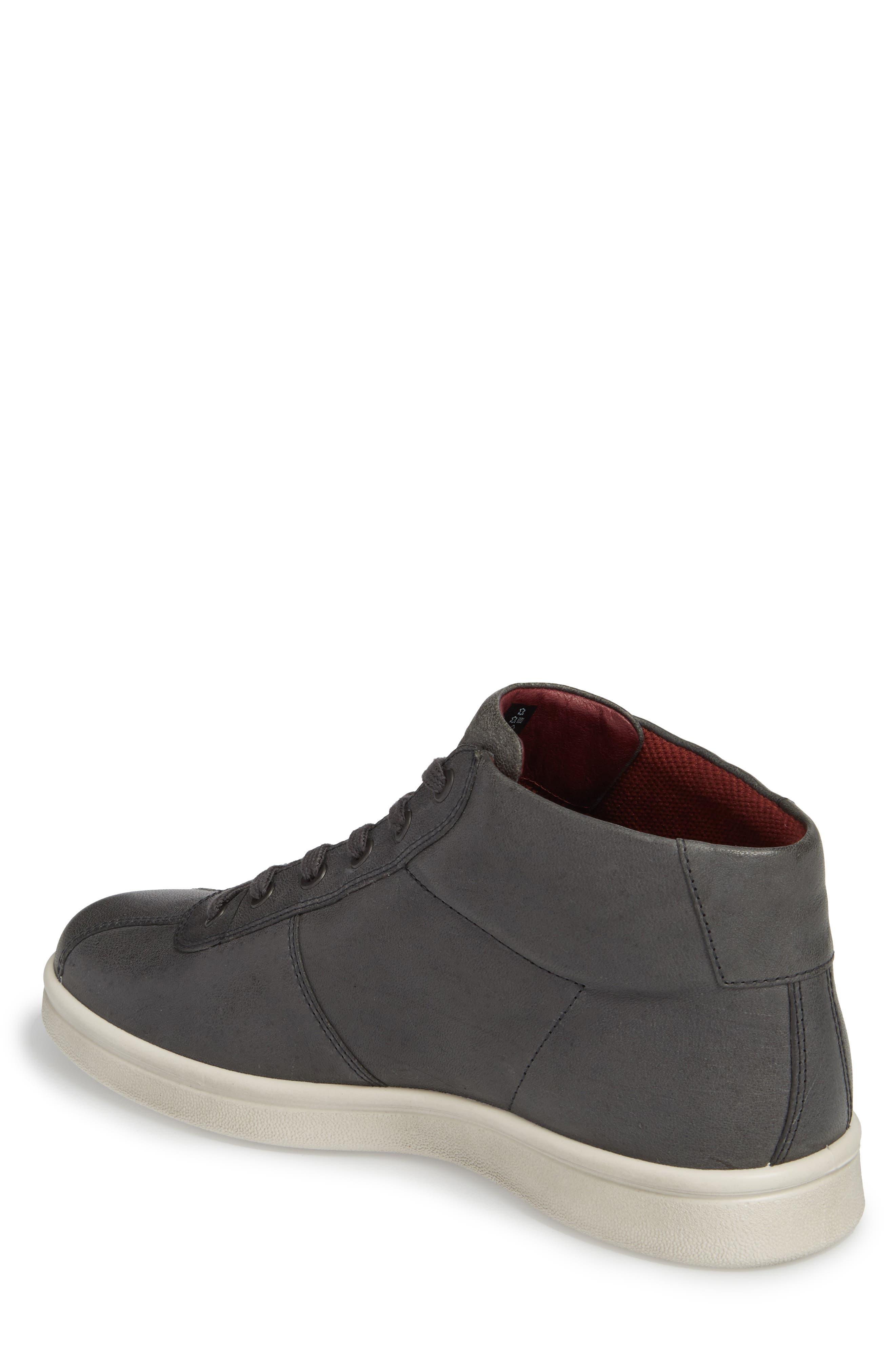Kallum High Top Sneaker,                             Alternate thumbnail 2, color,                             Moonless Leather