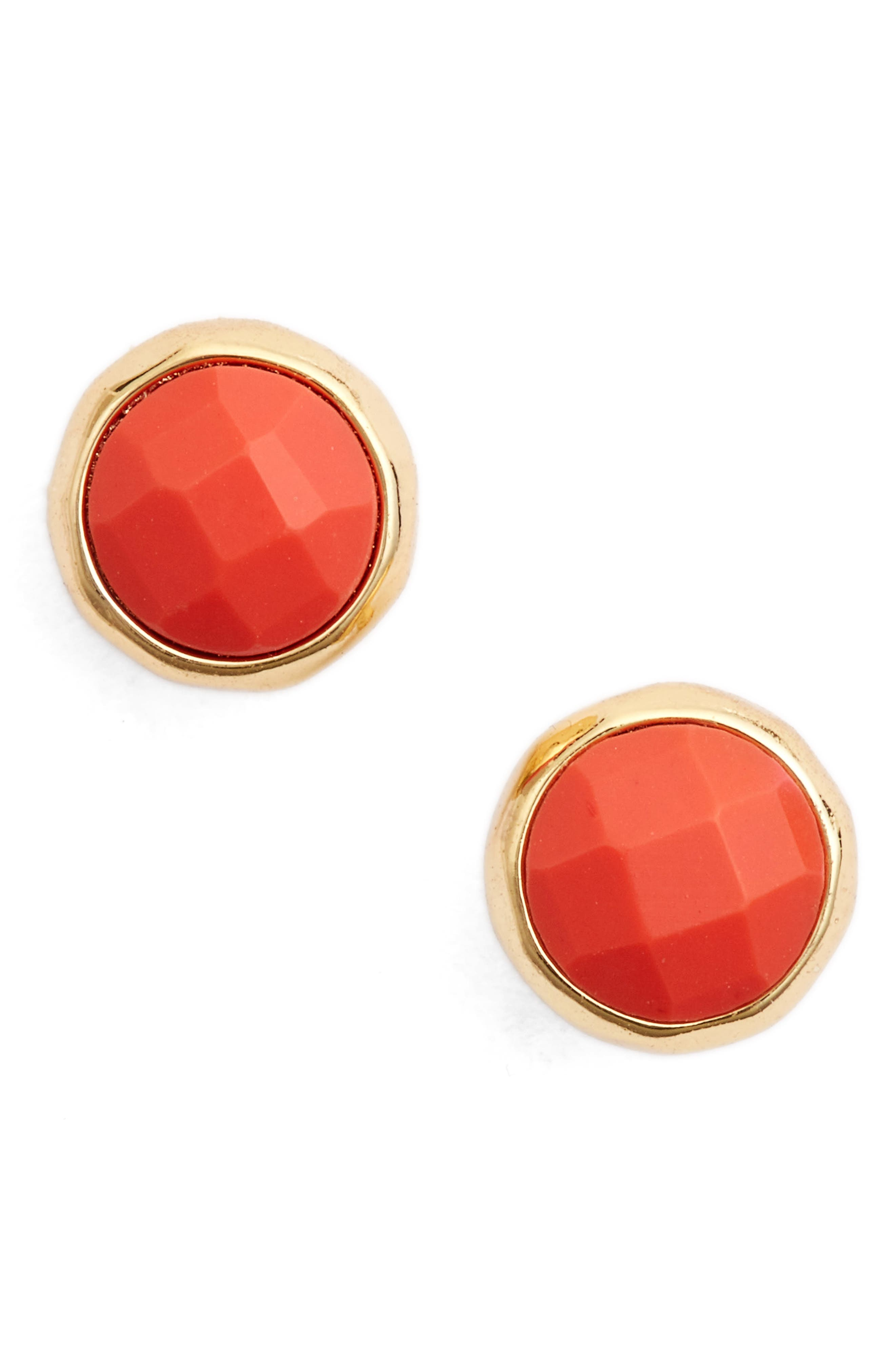 Harmony Stud Earrings,                             Main thumbnail 1, color,                             Pink Coral/ Gold