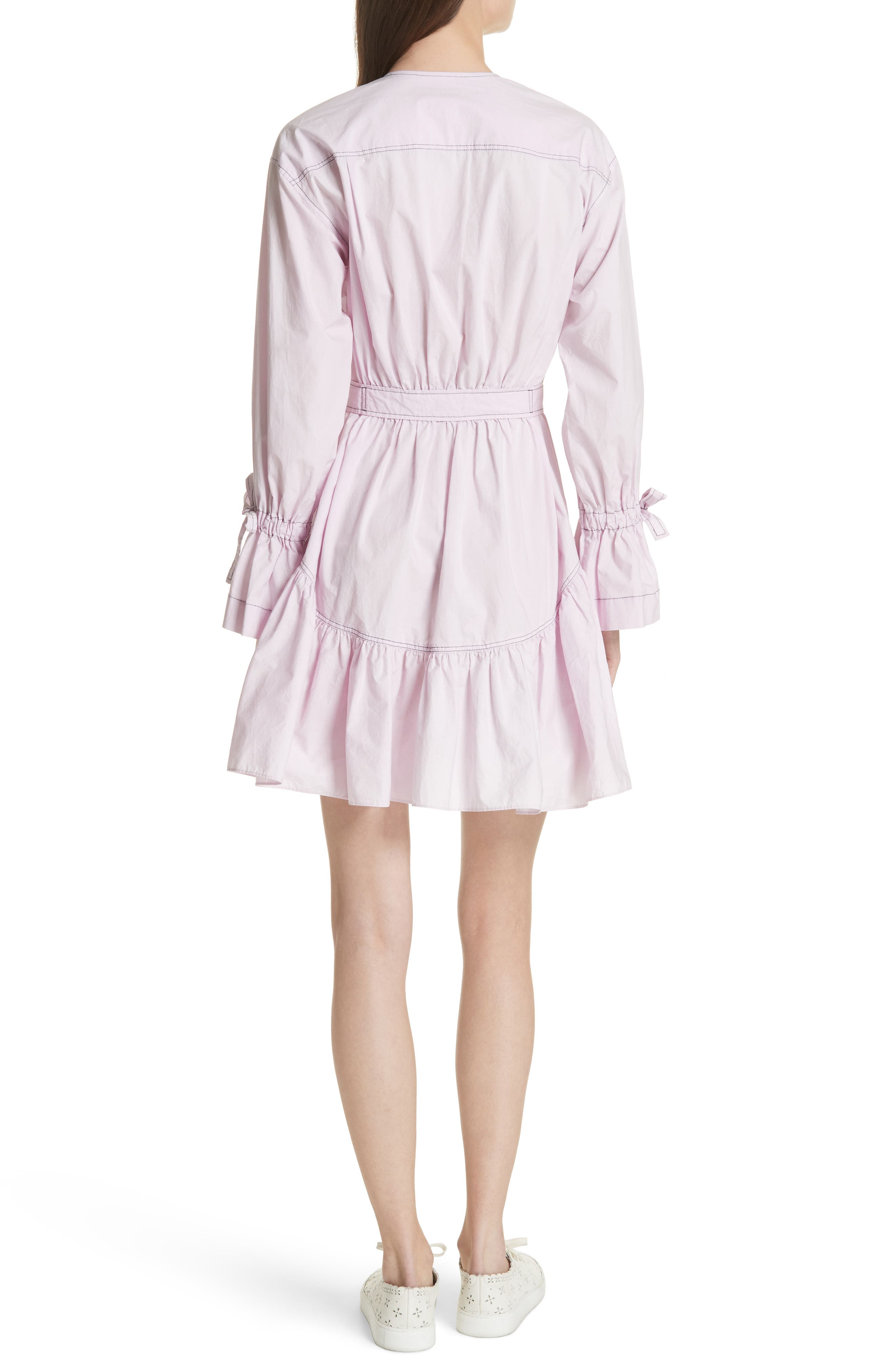 Ruffled Poplin Shirtdress,                             Alternate thumbnail 2, color,                             Lilac Dust
