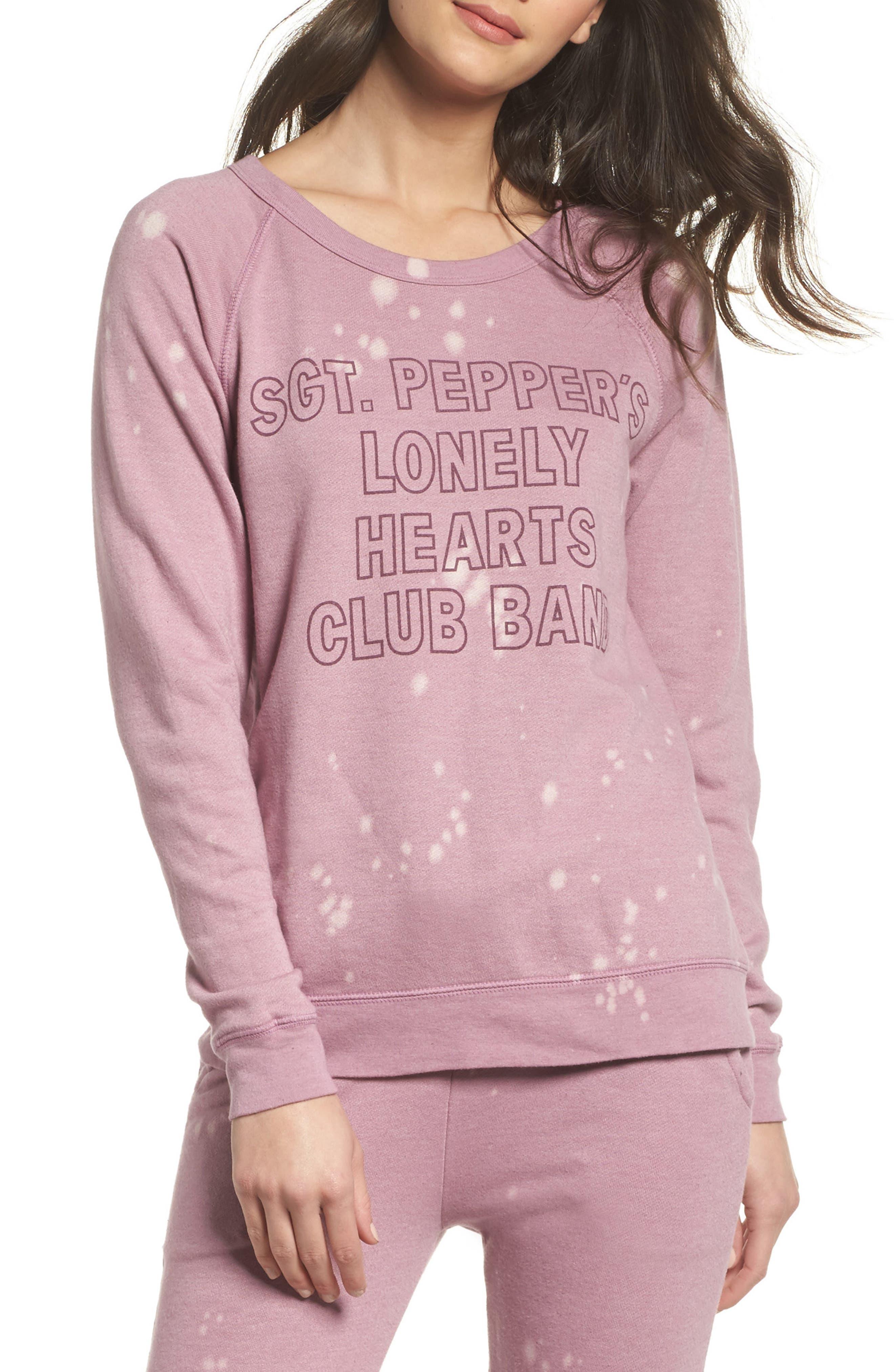 Lonely Hearts Club Sweatshirt,                         Main,                         color, Dawn