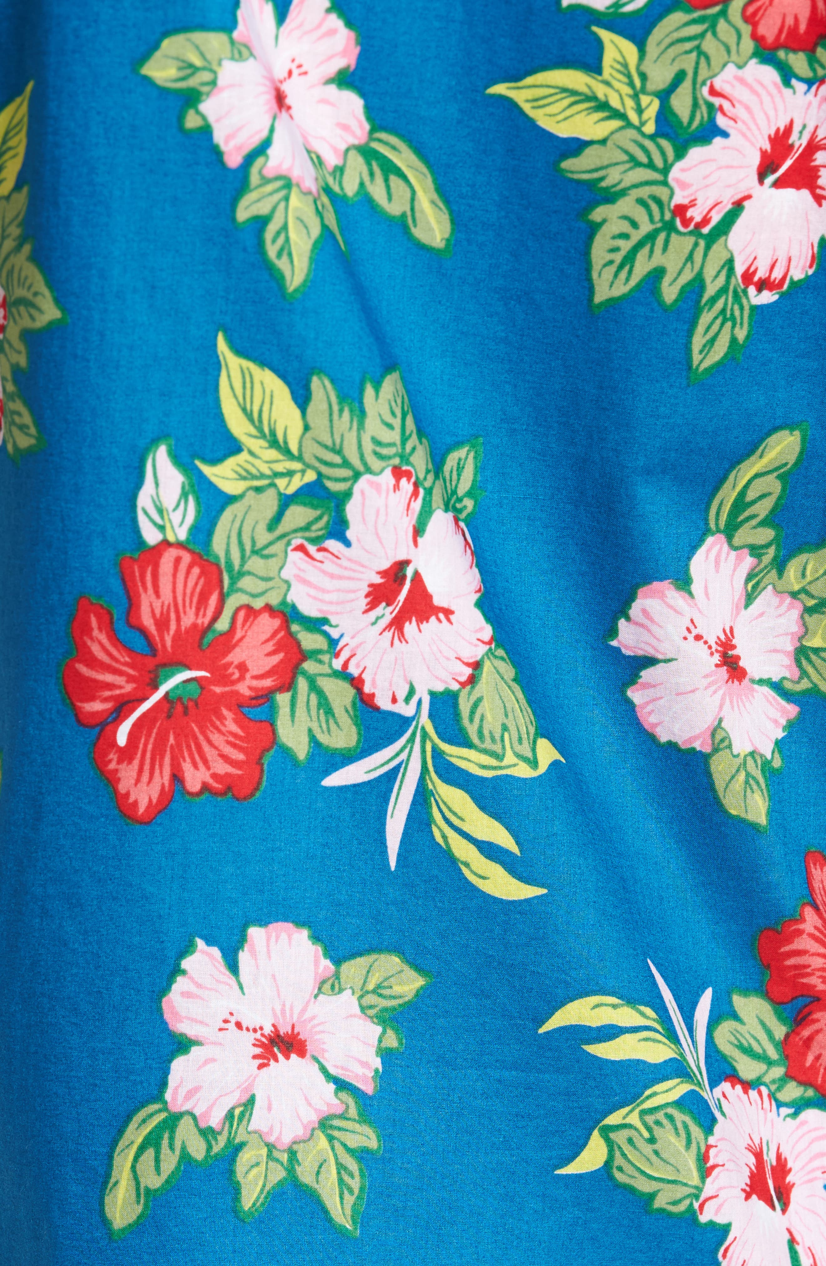 Kane Woven Shirt,                             Alternate thumbnail 5, color,                             Navy Multi