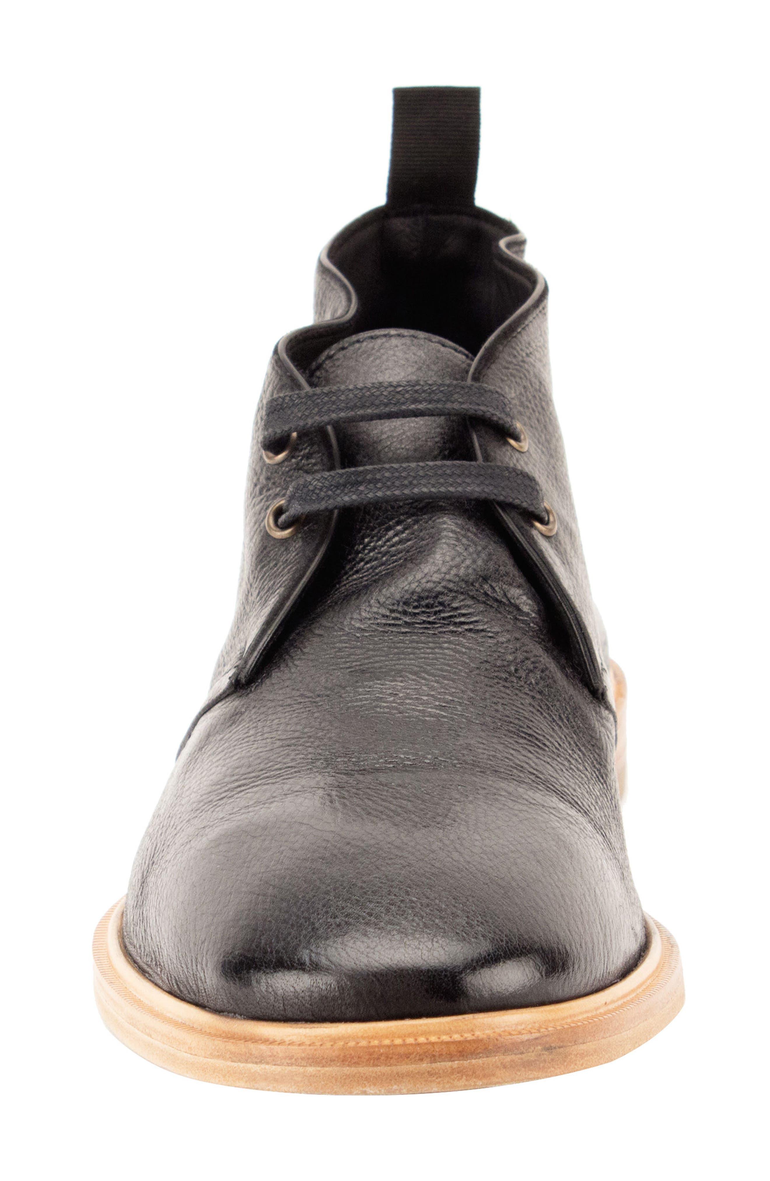 Luke Chukka Boot,                             Alternate thumbnail 4, color,                             Black Leather