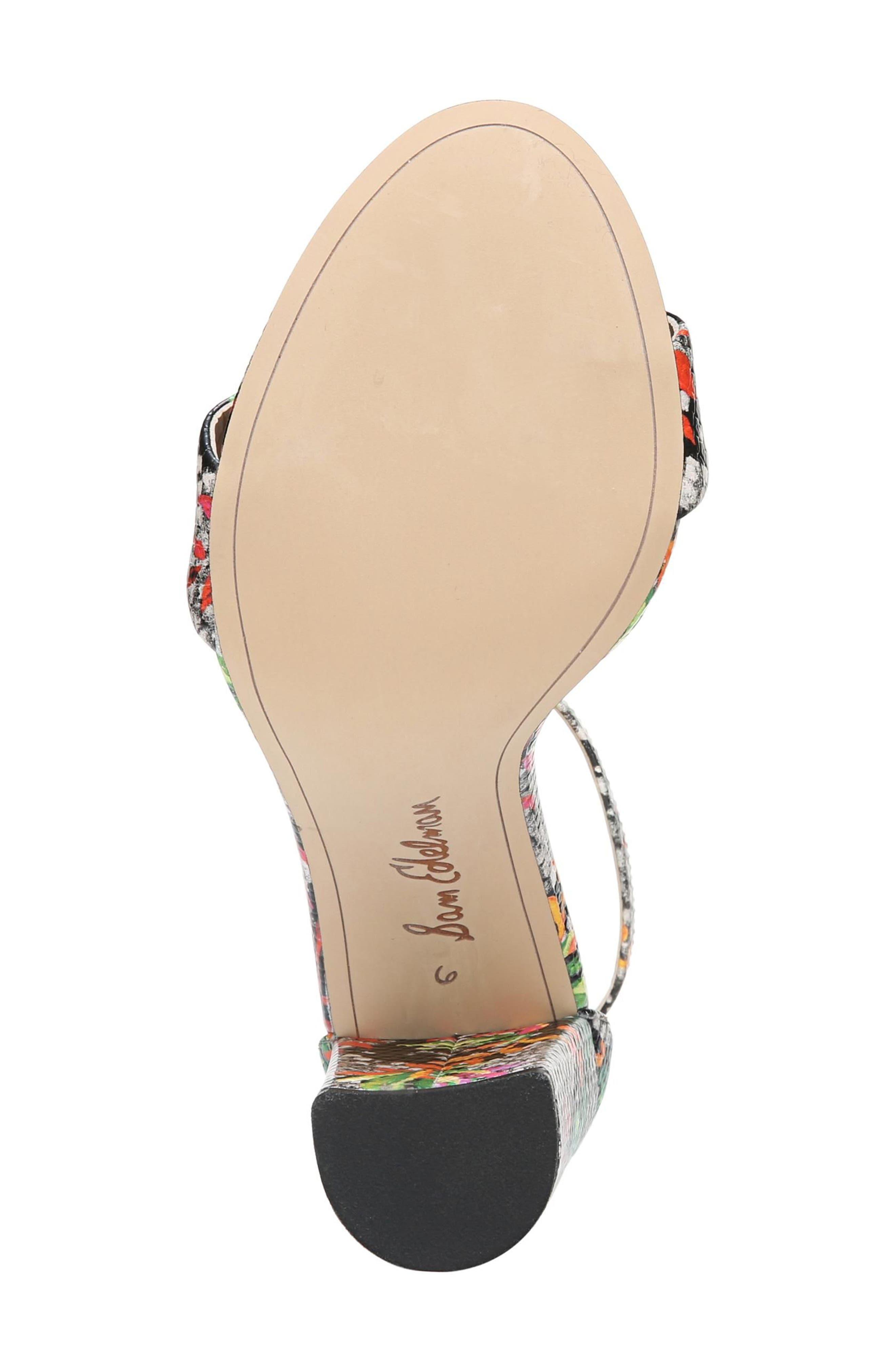 Yaro Ankle Strap Sandal,                             Alternate thumbnail 4, color,                             Bright Multi Print