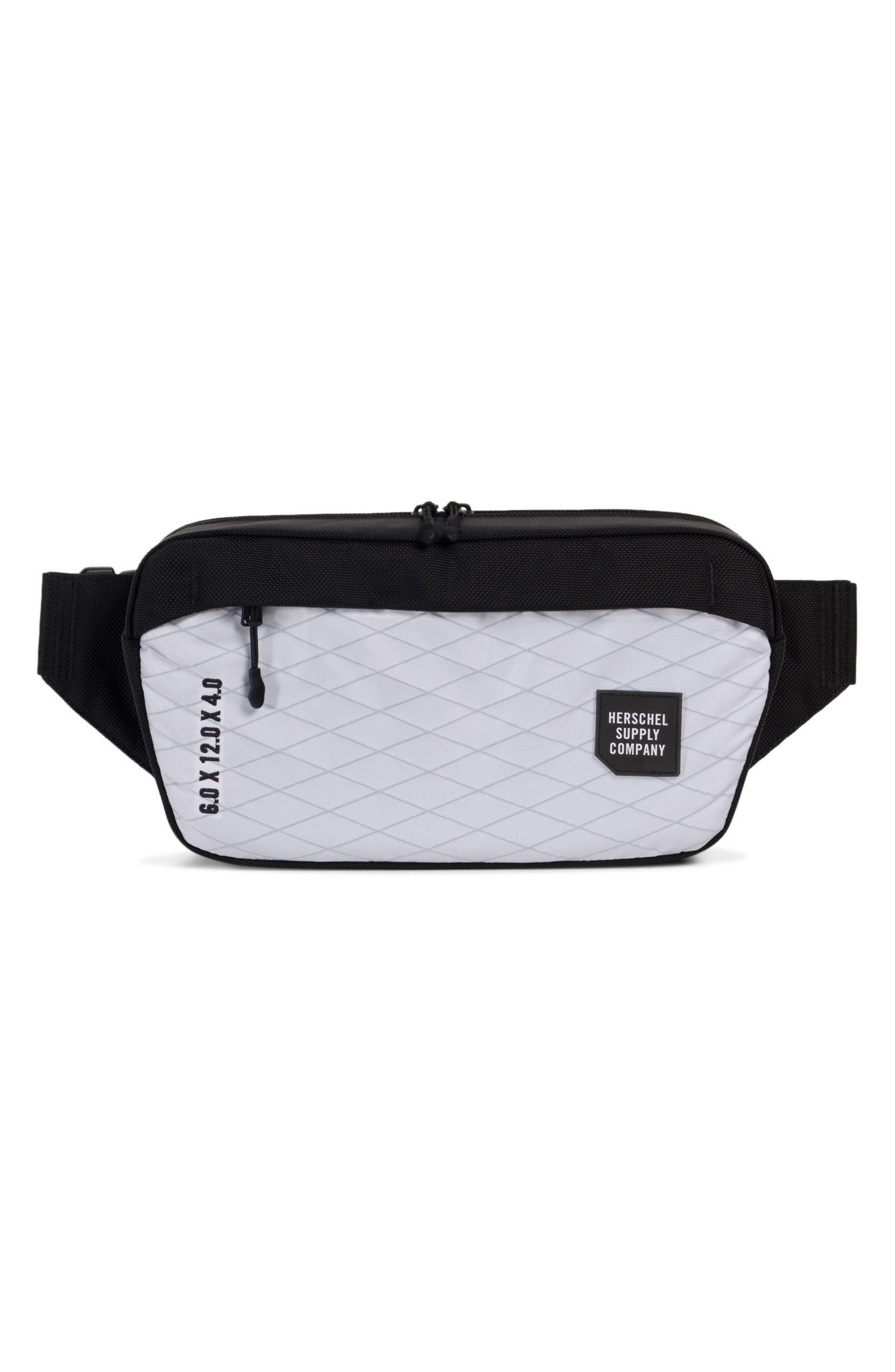 Trail Sailcloth Mammoth Belt Bag,                             Main thumbnail 1, color,                             White/ Black