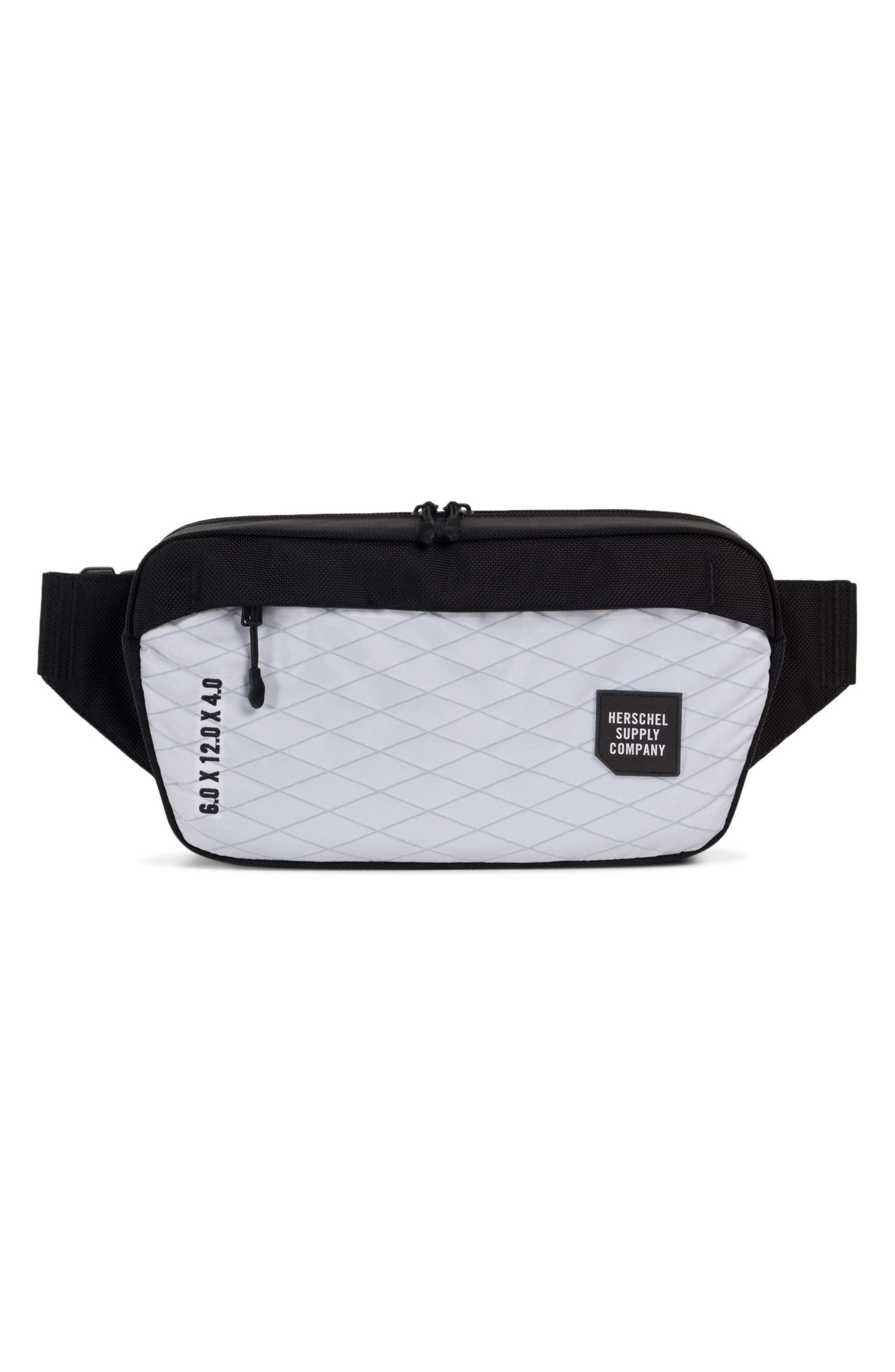Trail Sailcloth Mammoth Belt Bag,                         Main,                         color, White/ Black