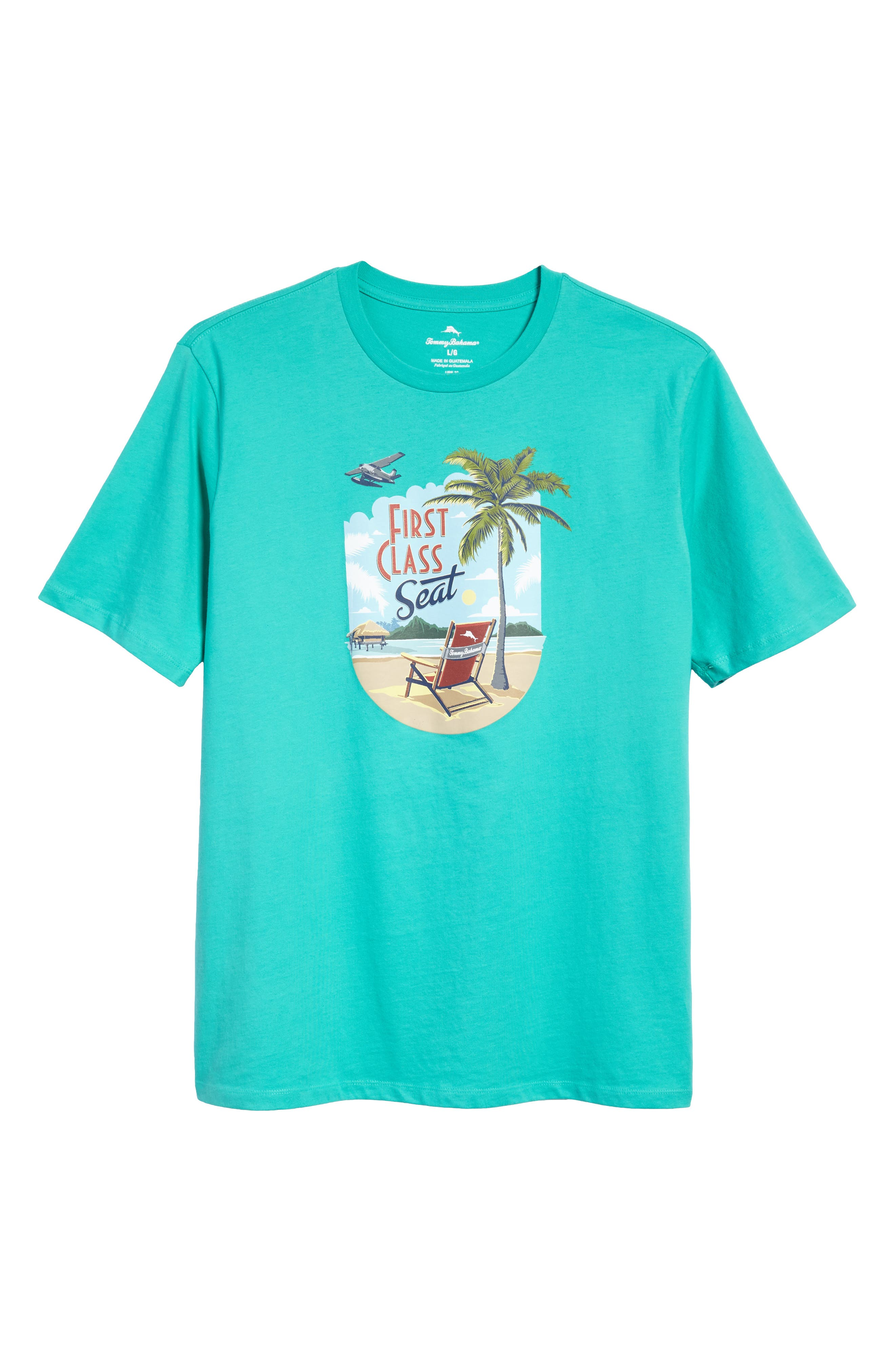 First Class Seat T-Shirt,                             Alternate thumbnail 7, color,                             Cave Green