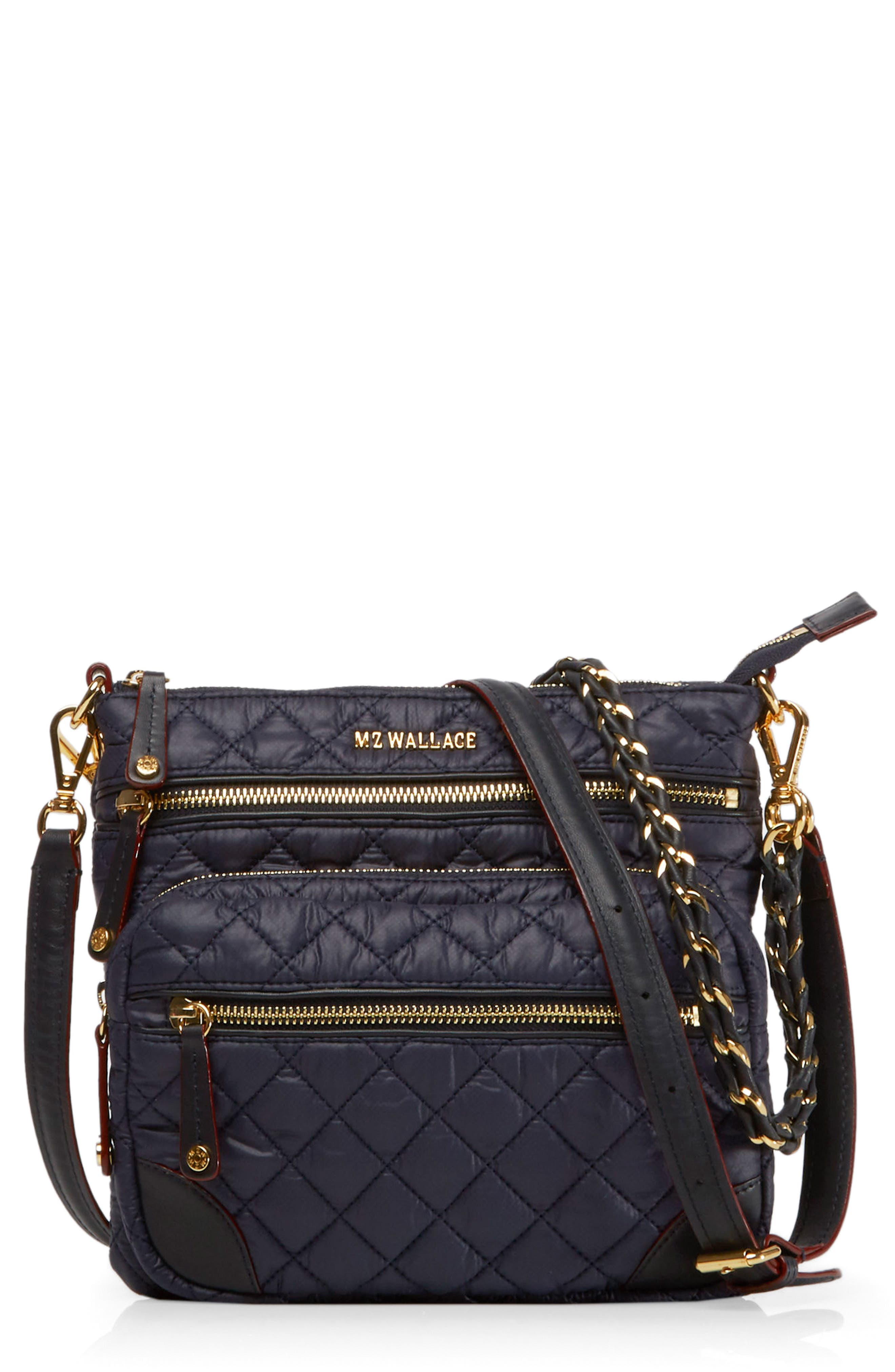 MZ Wallace Crosby North/South Quilted Nylon Crossbody