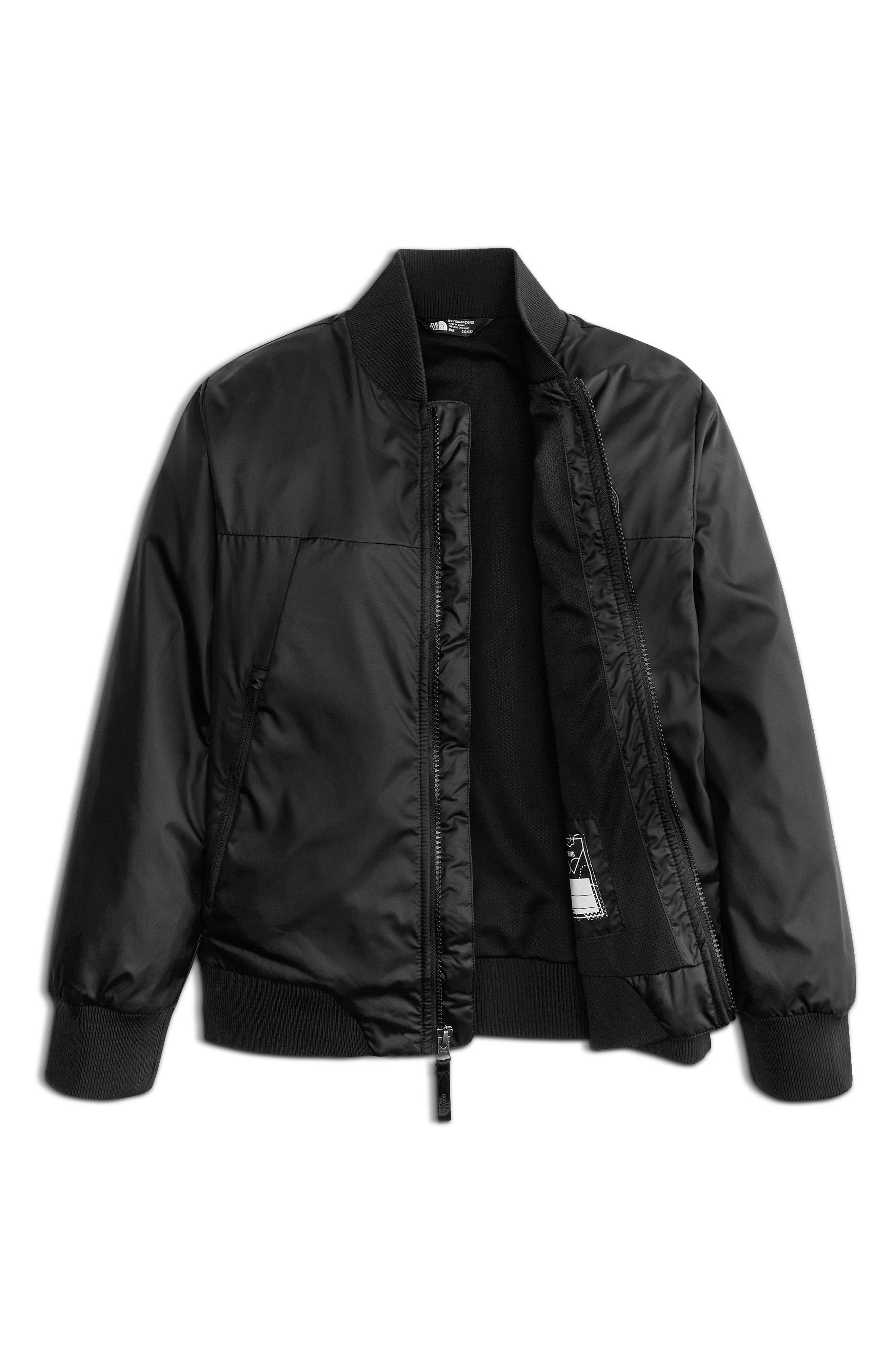 Flurry Windproof Bomber Jacket,                             Alternate thumbnail 3, color,                             Tnf Black
