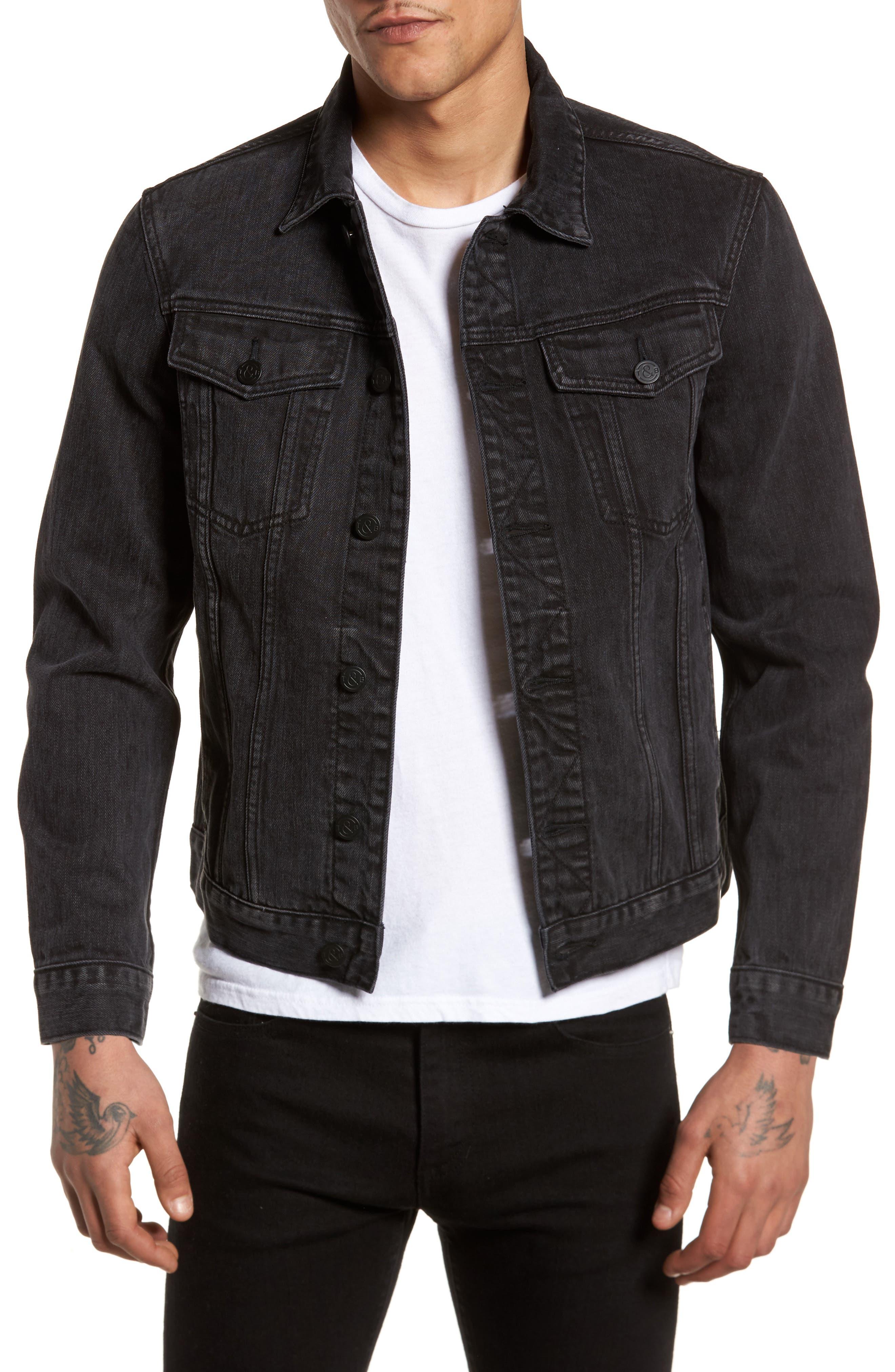 Denim Jacket,                             Main thumbnail 1, color,                             Black Wash