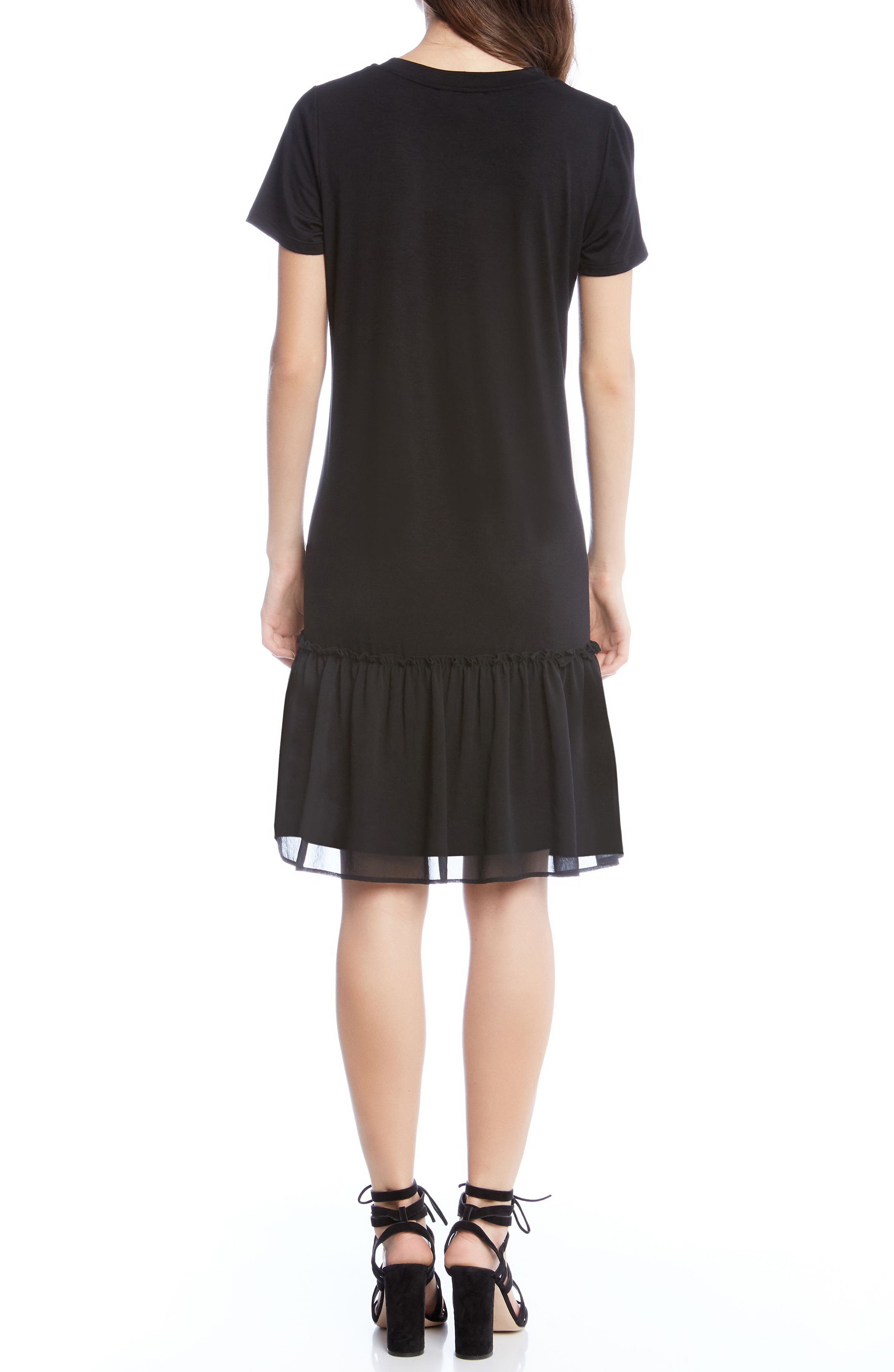 Alternate Image 2  - Karen Kane Ruffle Hem Dress