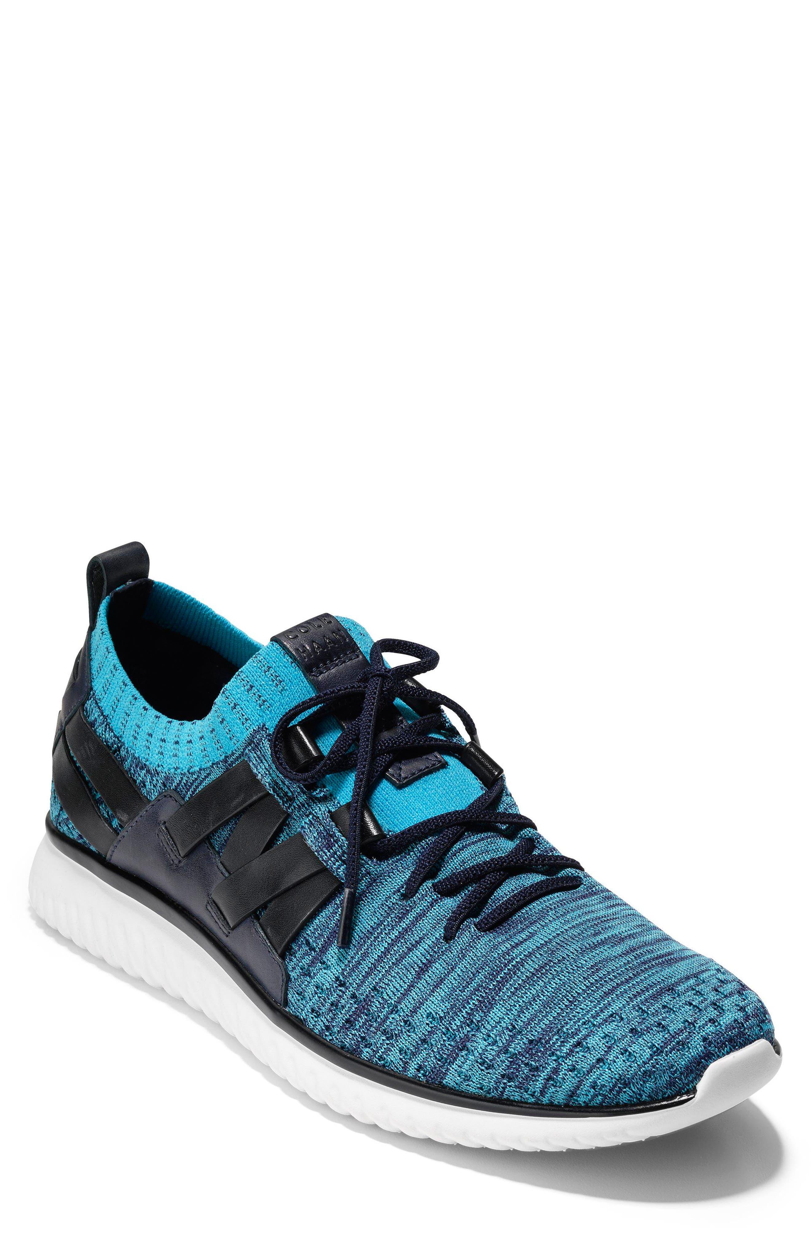 GrandMøtion Stitchlite<sup>™</sup> Woven Sneaker,                             Main thumbnail 1, color,                             Marine Blue