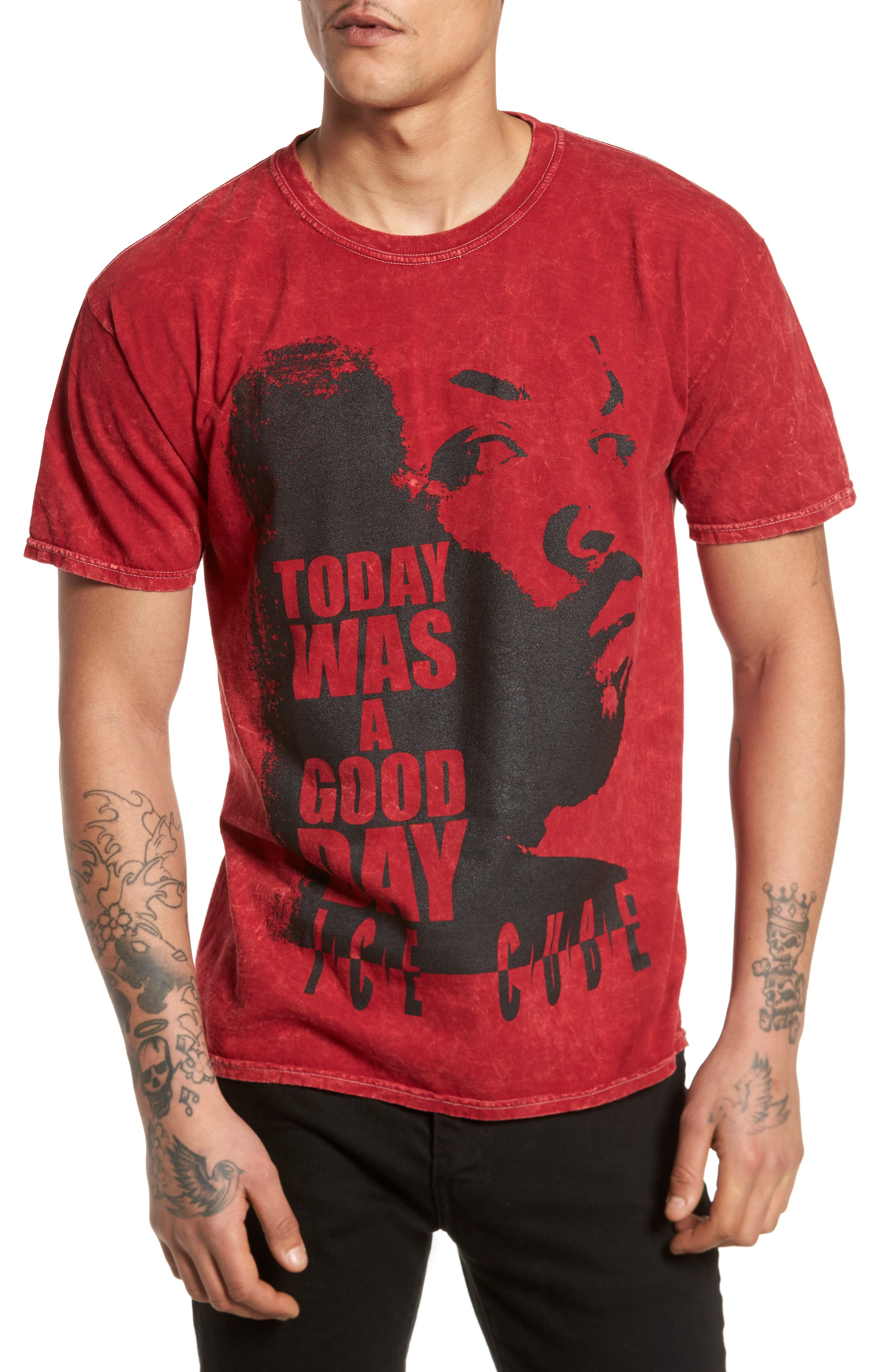 Good Day Graphic T-Shirt,                         Main,                         color, Red Good Day Ice Cube