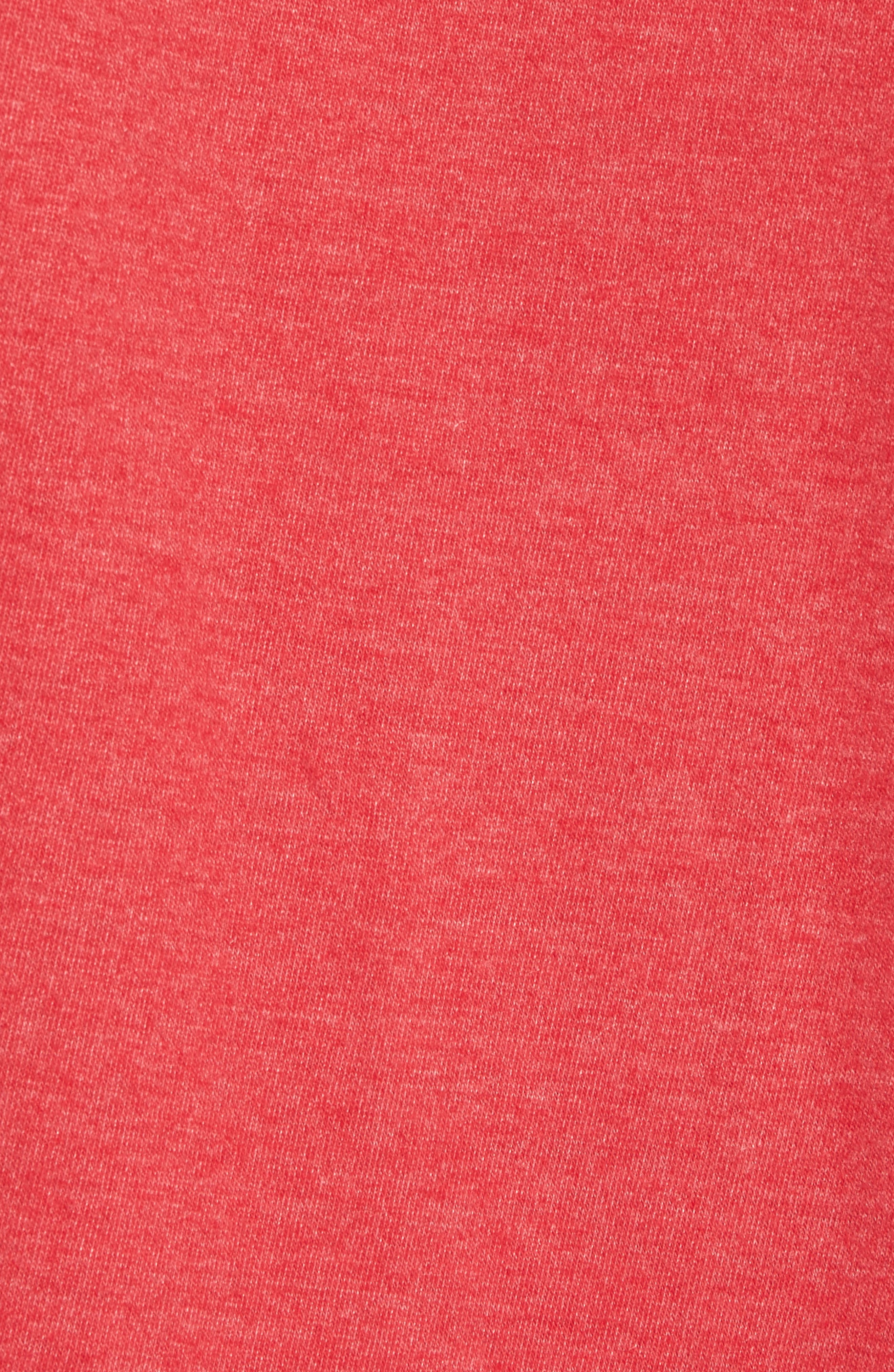 Hillwood Red Wings T-Shirt,                             Alternate thumbnail 5, color,                             Heather Red