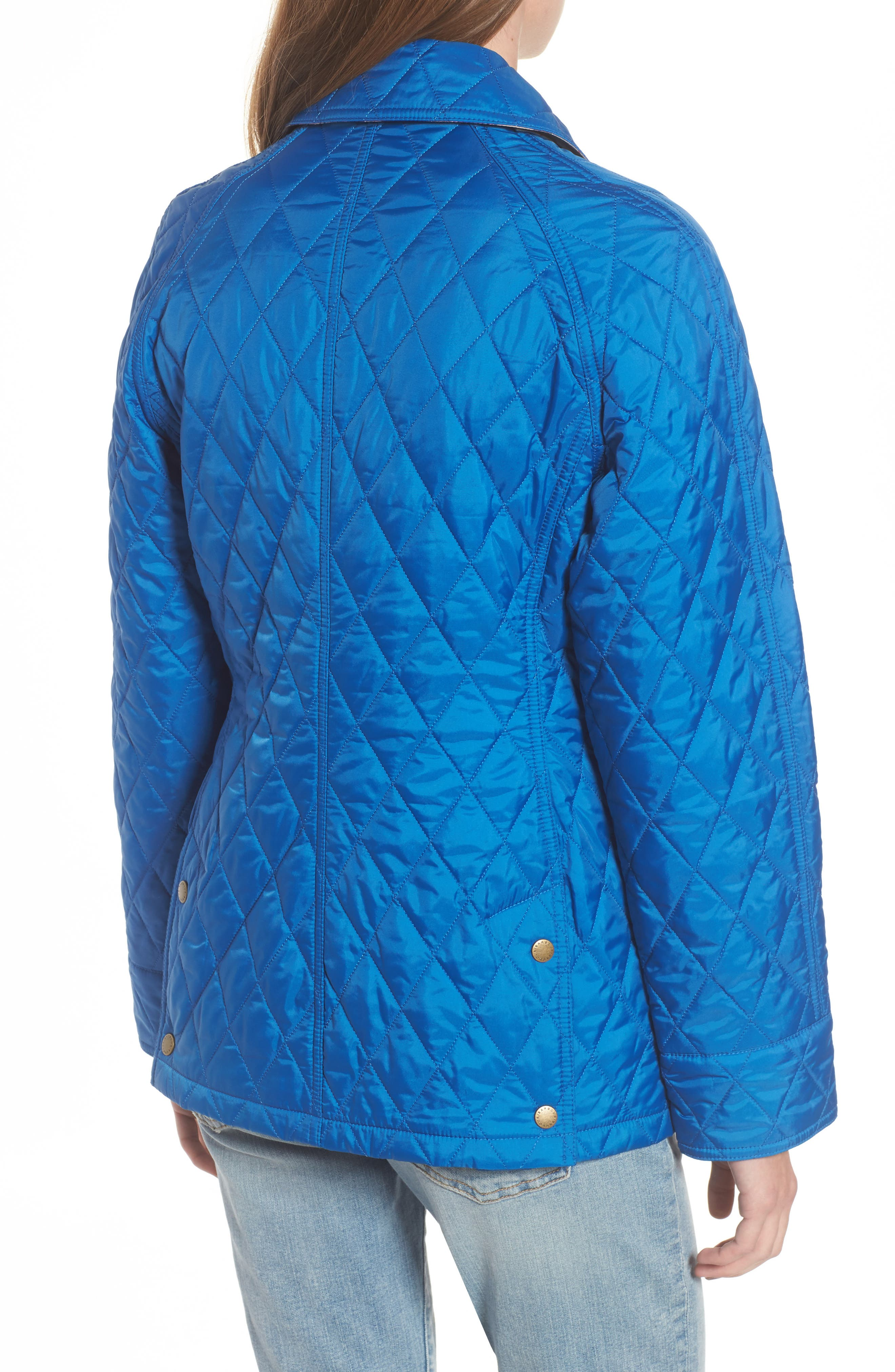 'Beadnell - Summer' Quilted Jacket,                             Alternate thumbnail 2, color,                             Victoria Blue