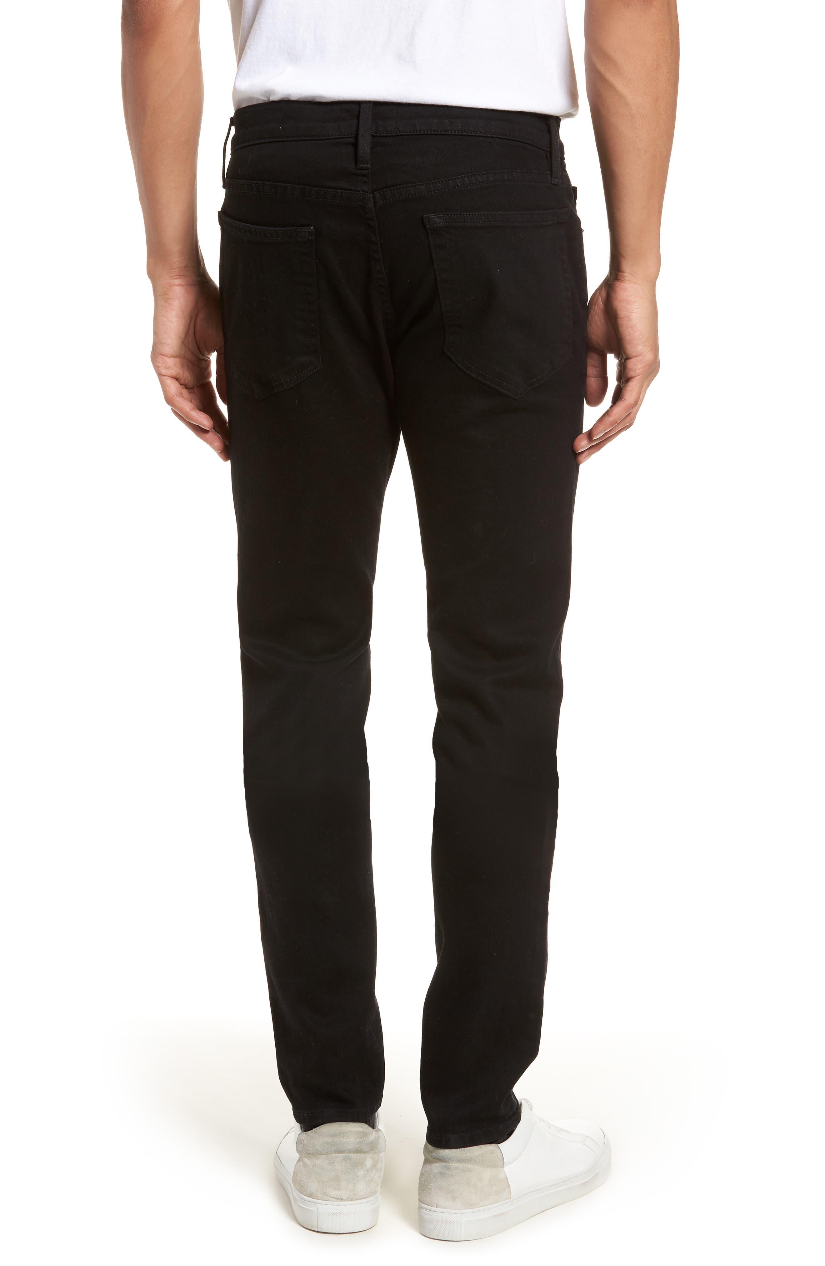 L'Homme Skinny Fit Jeans,                             Alternate thumbnail 2, color,                             Noir