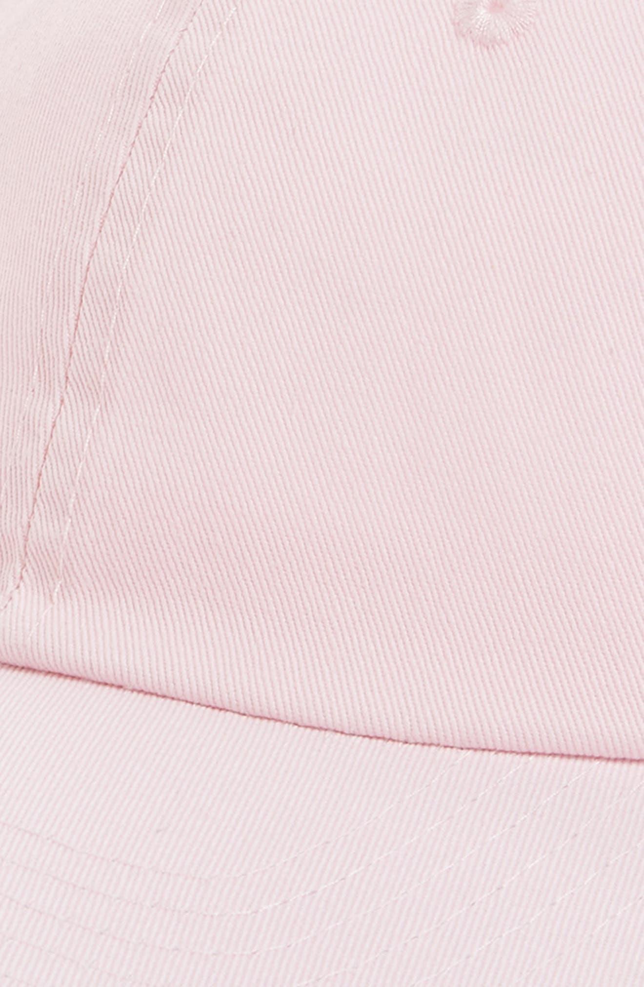 Peach Baseball Cap,                             Alternate thumbnail 3, color,                             Pink