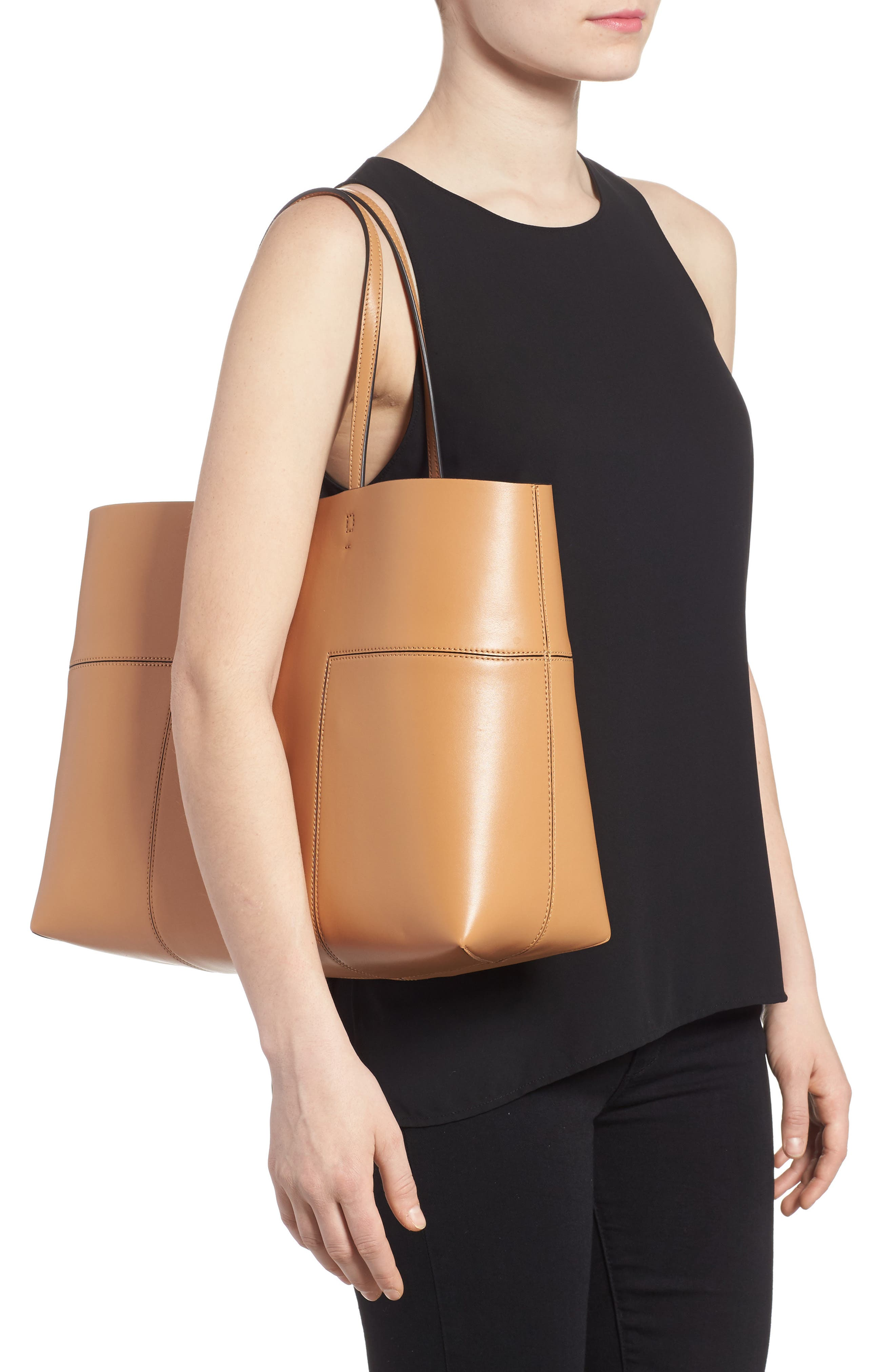 Alternate Image 2  - Tory Burch 'Block-T' Leather Tote