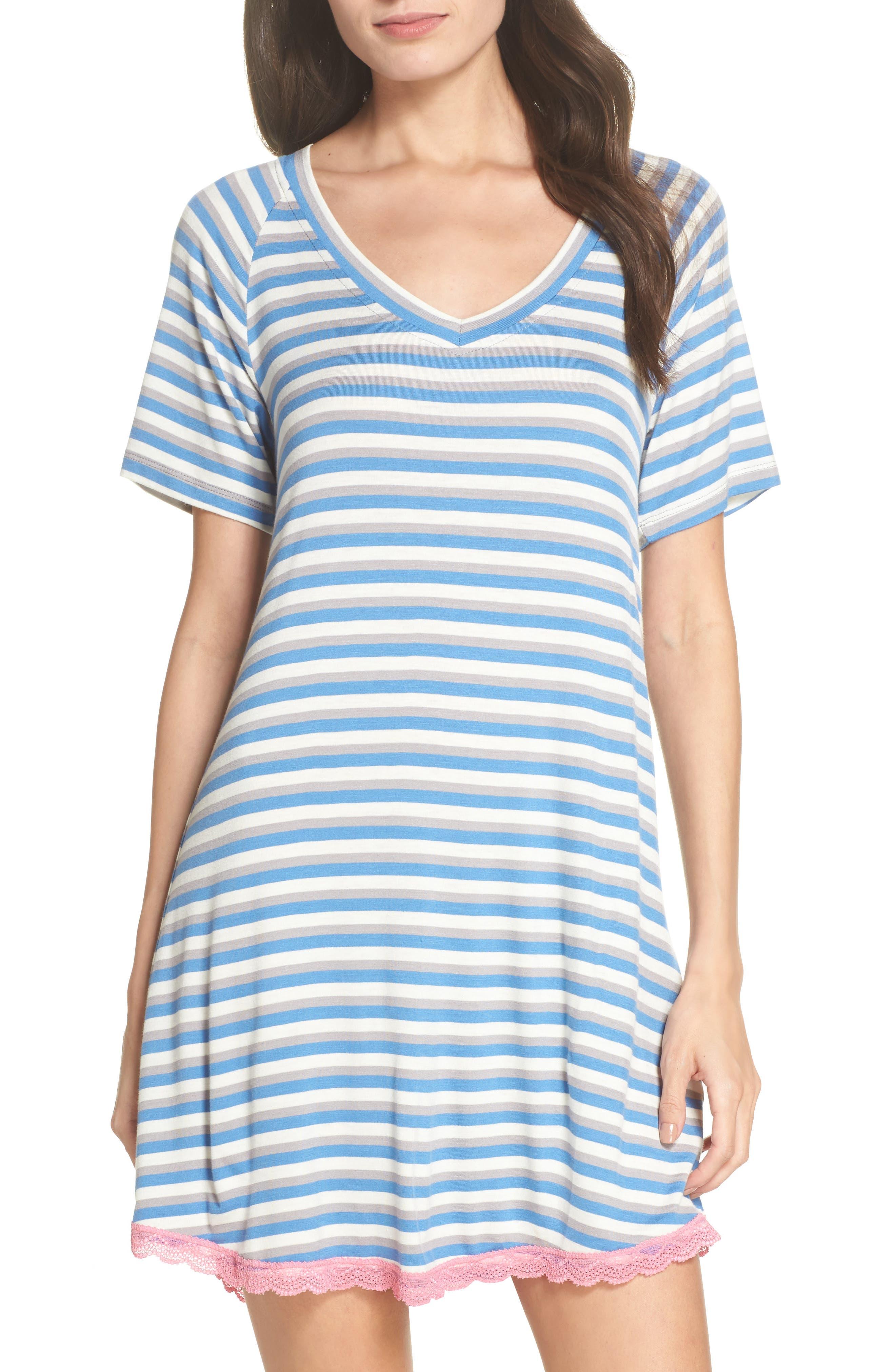 Alternate Image 1 Selected - Honeydew Lace Trim Sleep Shirt (2 for $60)