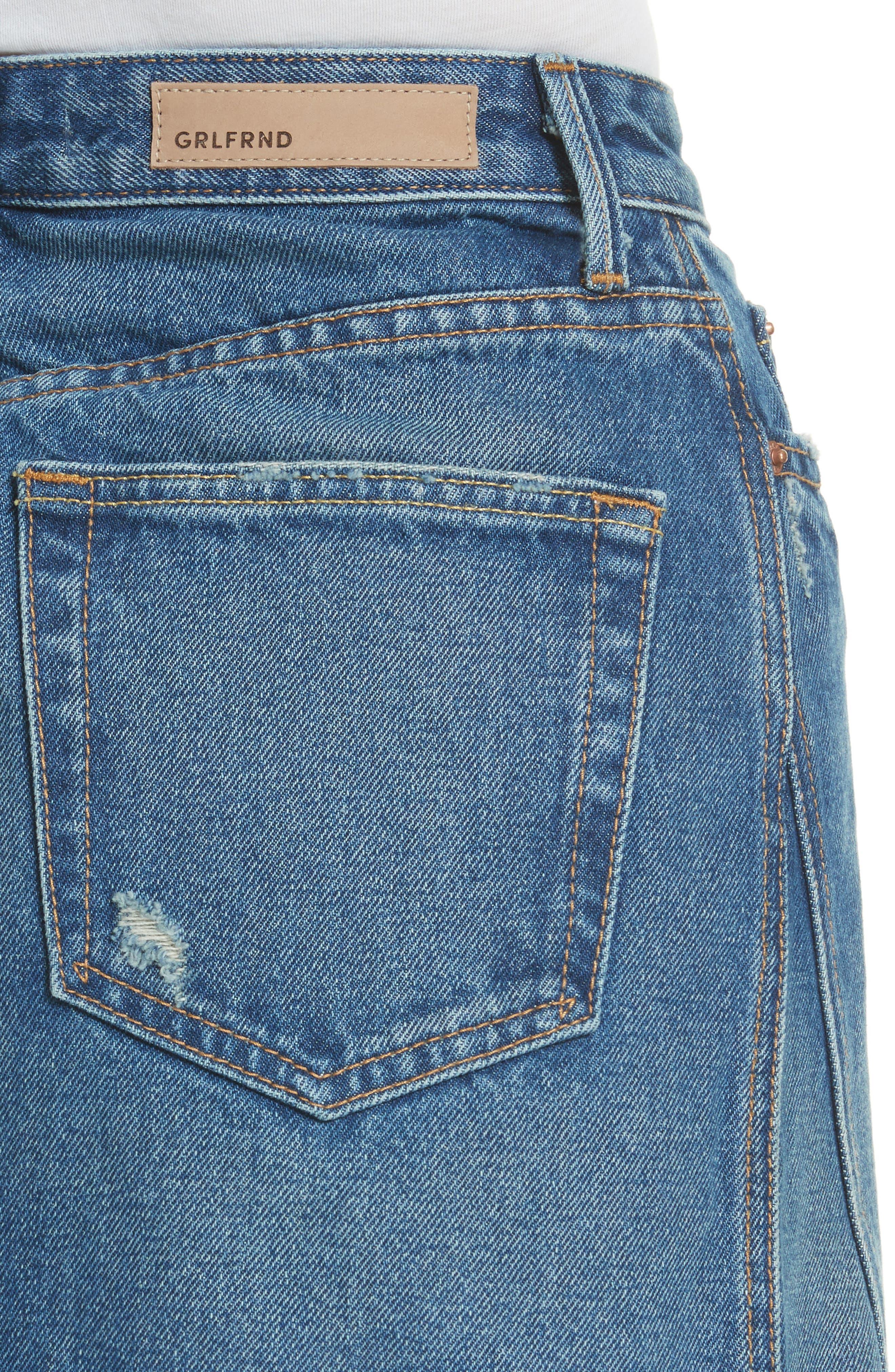 Alternate Image 4  - GRLFRND Eva Denim A-Frame Gusset Skirt