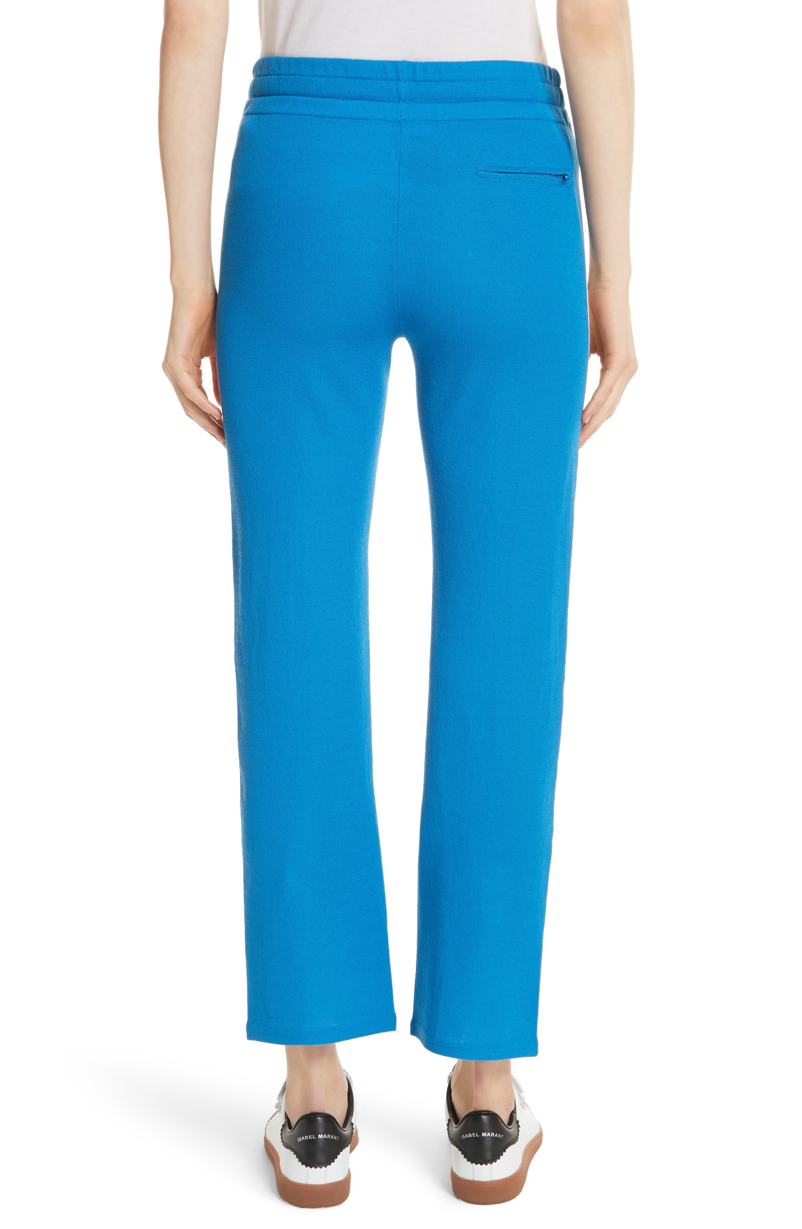 Isabel Marant Étoile Dobbs Pants,                             Alternate thumbnail 3, color,                             Electric Blue