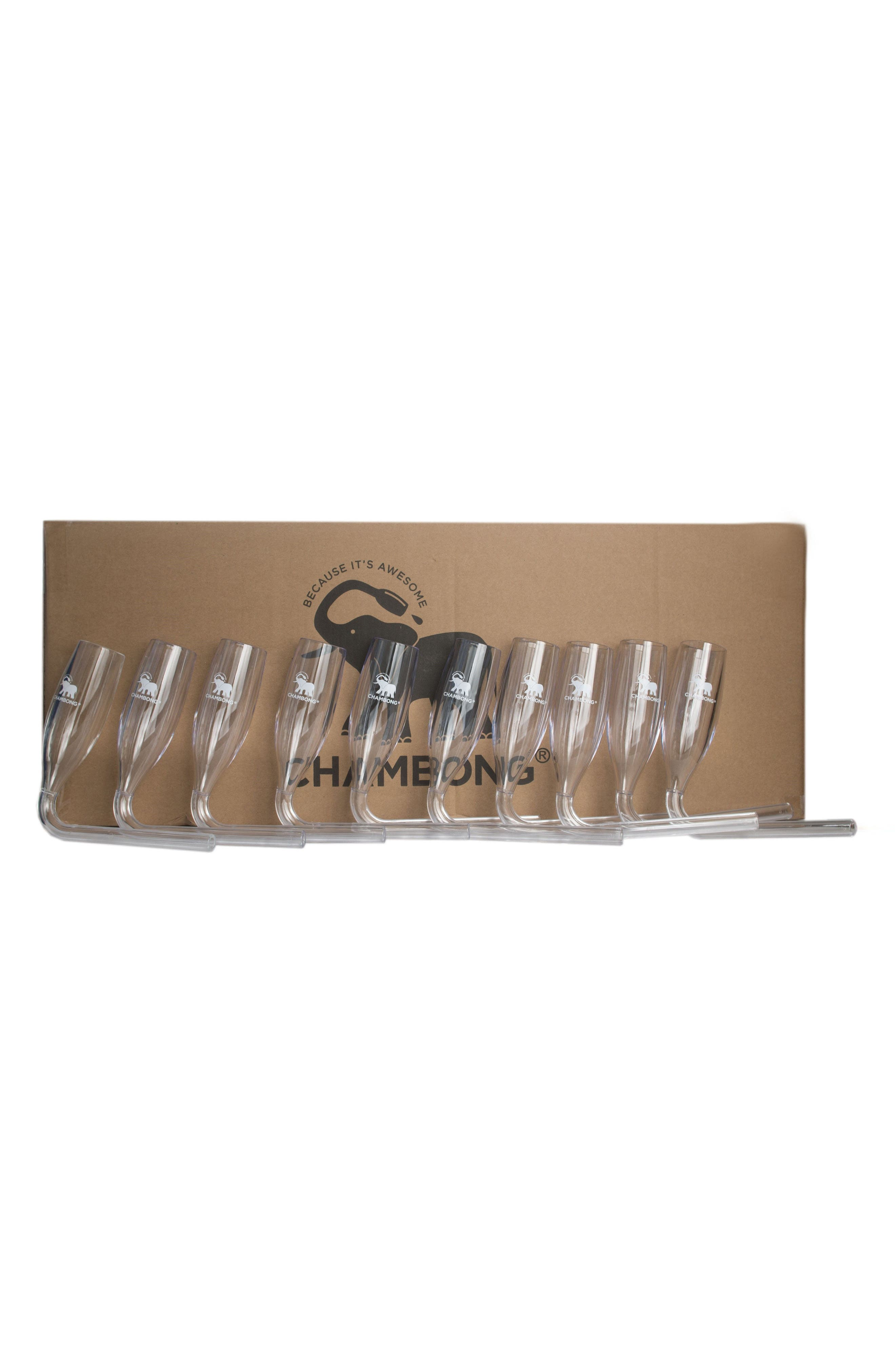 50-Pack Curved Champagne Glasses,                             Alternate thumbnail 6, color,                             Clear