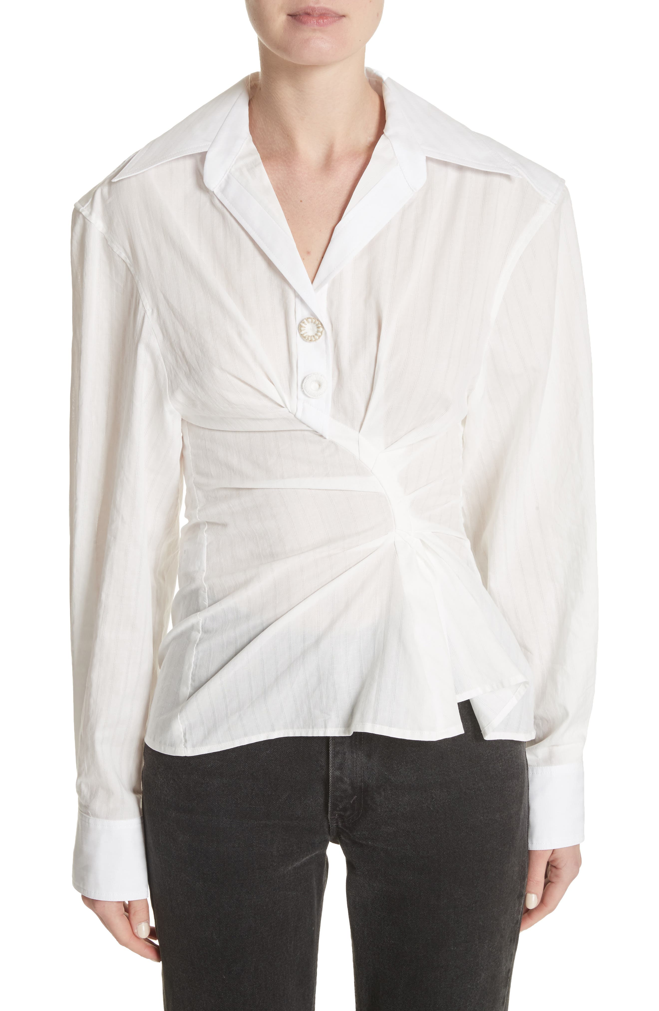 La Chemise Maceio Shirt,                         Main,                         color, Off White