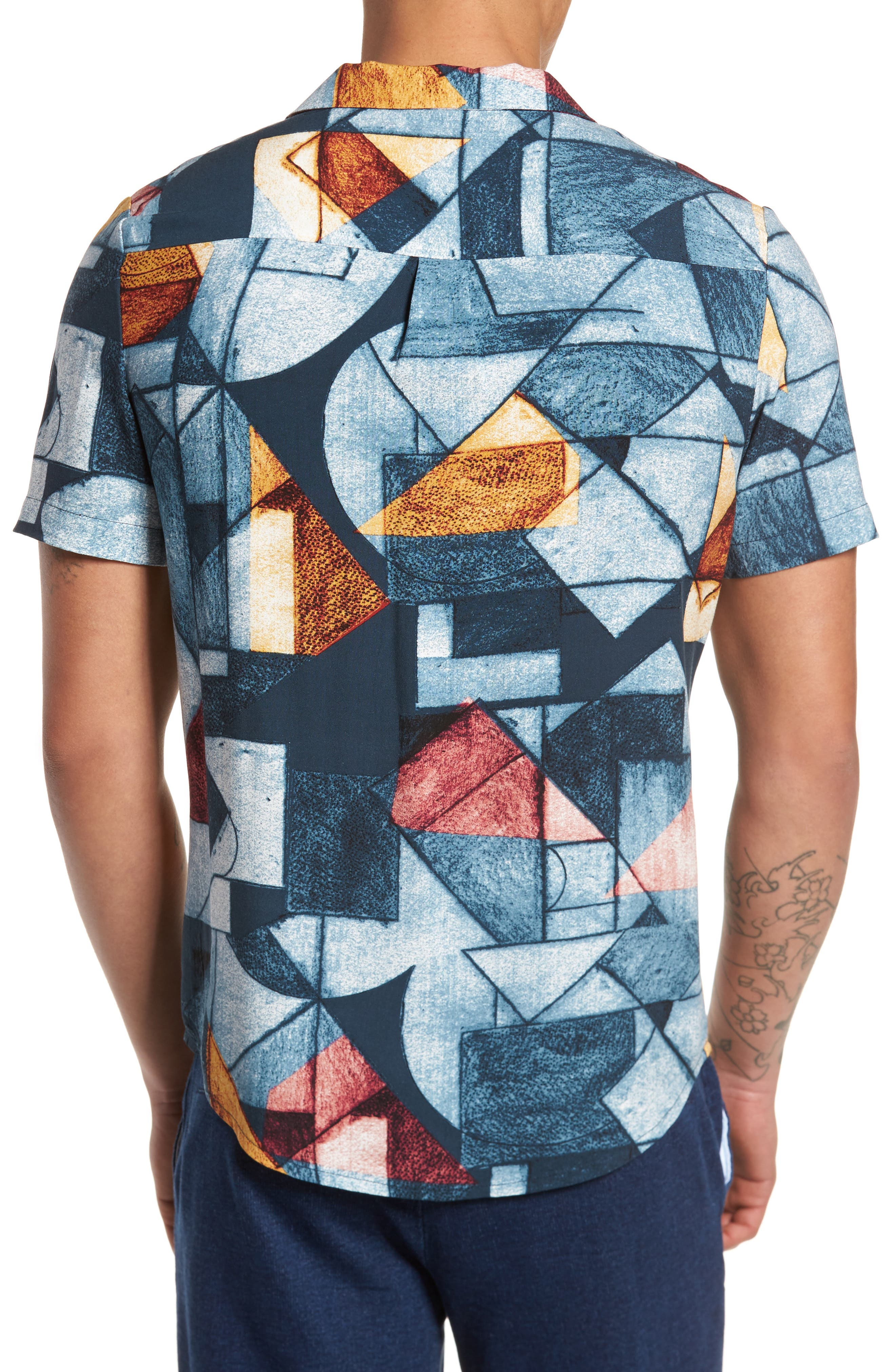 Olio Etch Woven Shirt,                             Alternate thumbnail 2, color,                             Indigo