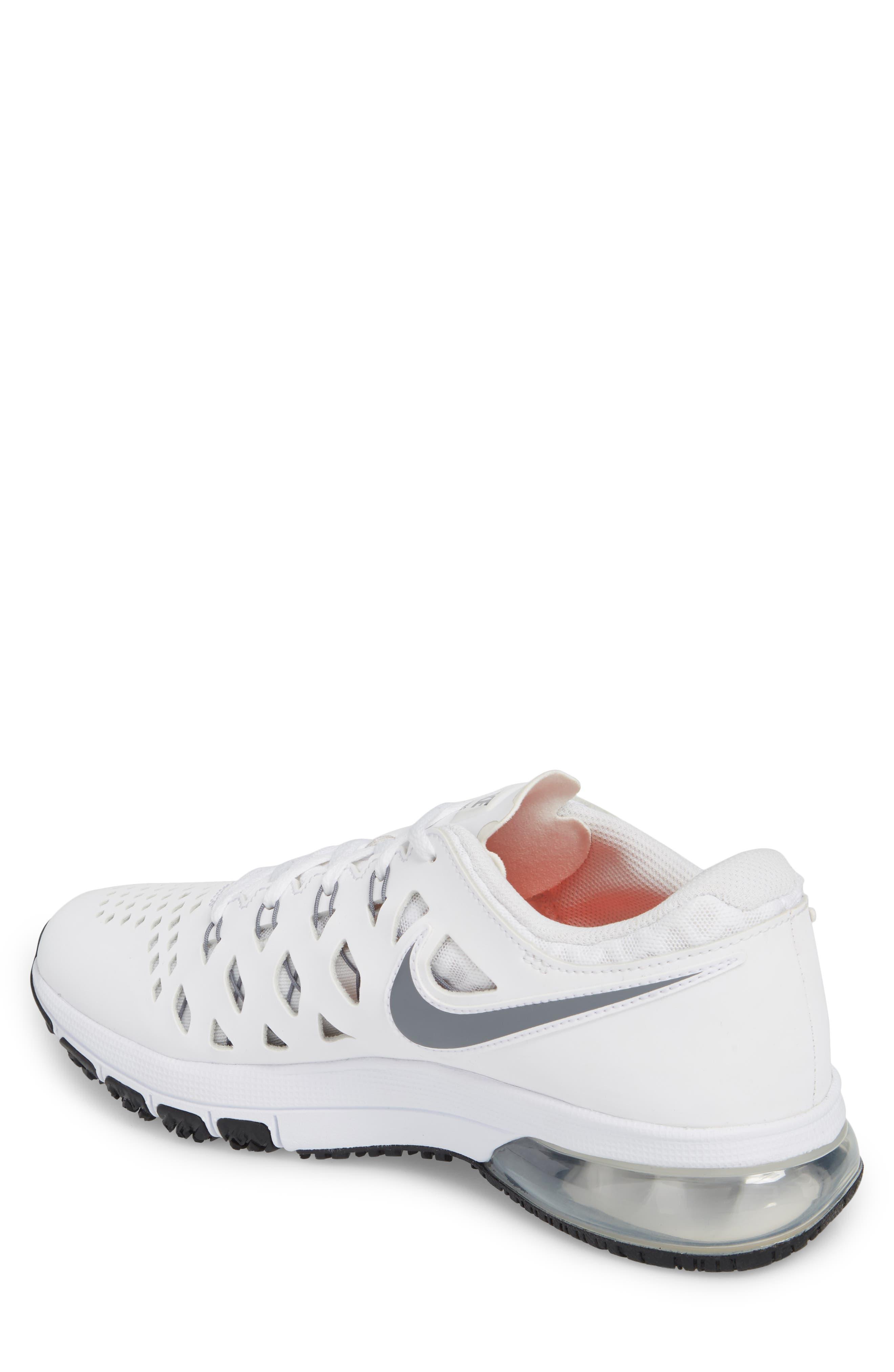 Air Trainer 180 Training Shoe,                             Alternate thumbnail 2, color,                             White/ Cool Grey-Black
