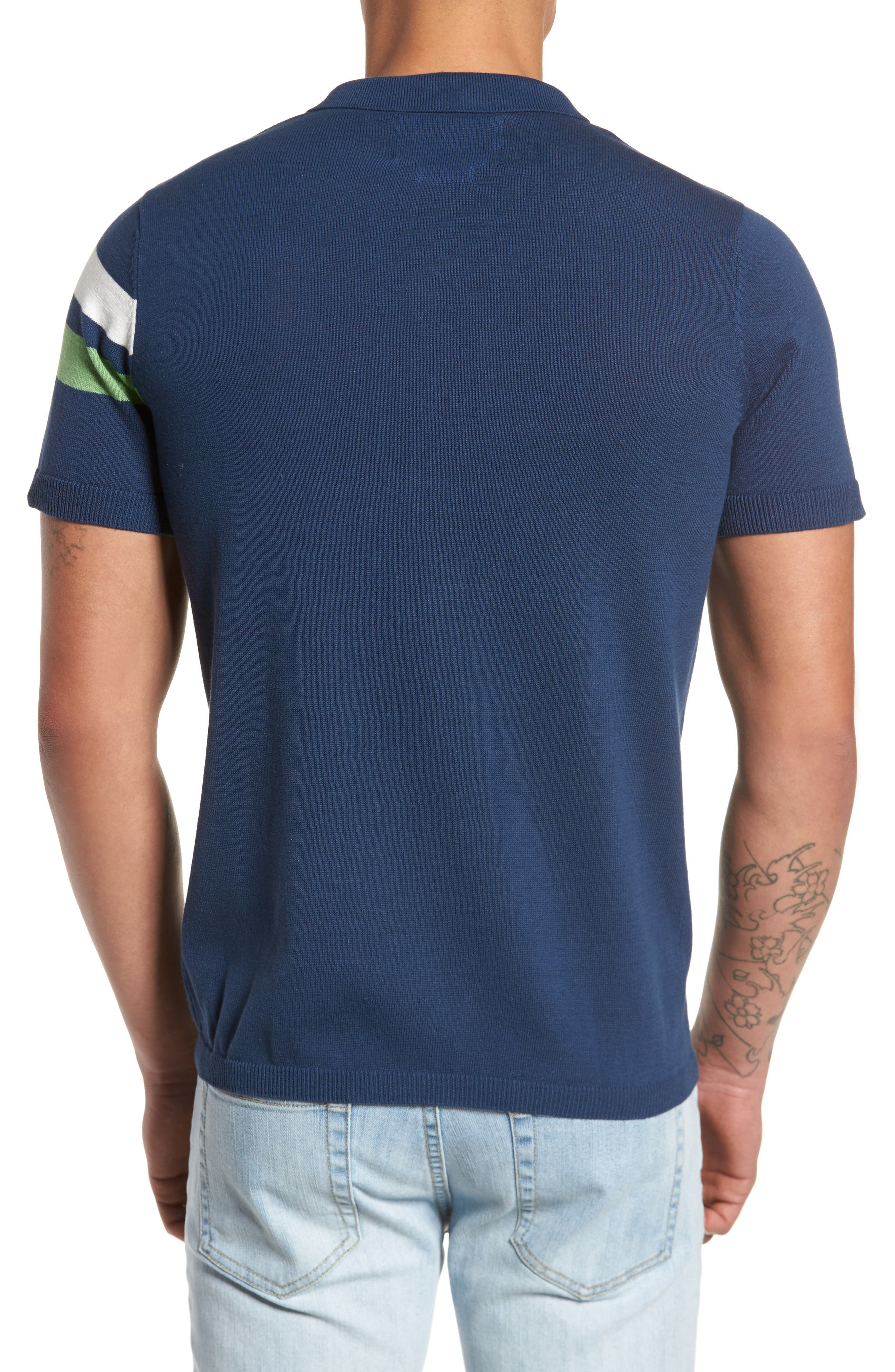 Abyss Knit Shirt,                             Alternate thumbnail 2, color,                             Navy