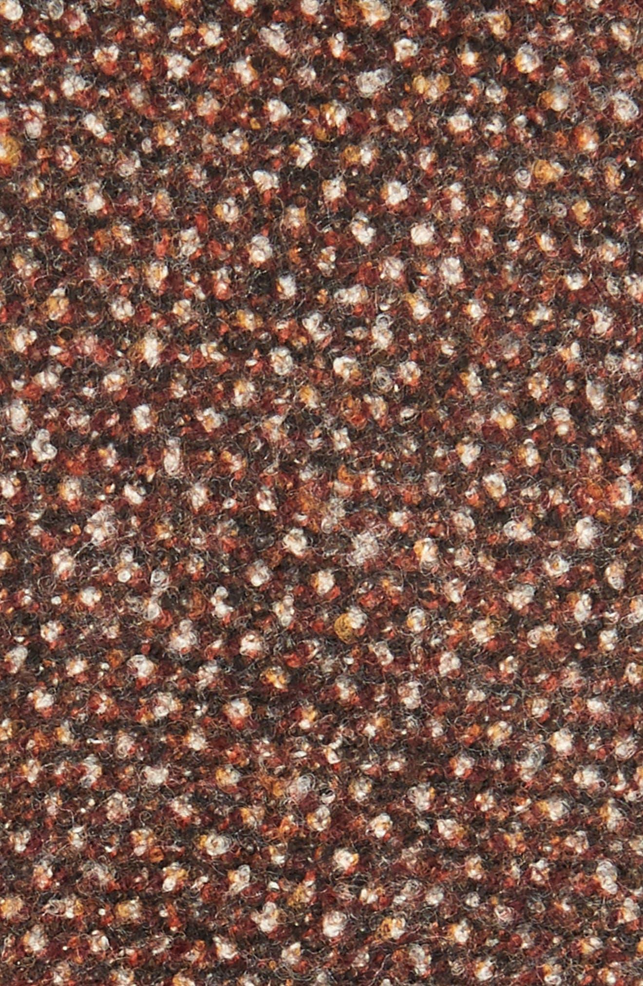 Mélange Wool Skinny Tie,                             Alternate thumbnail 2, color,                             Rust/ Copper
