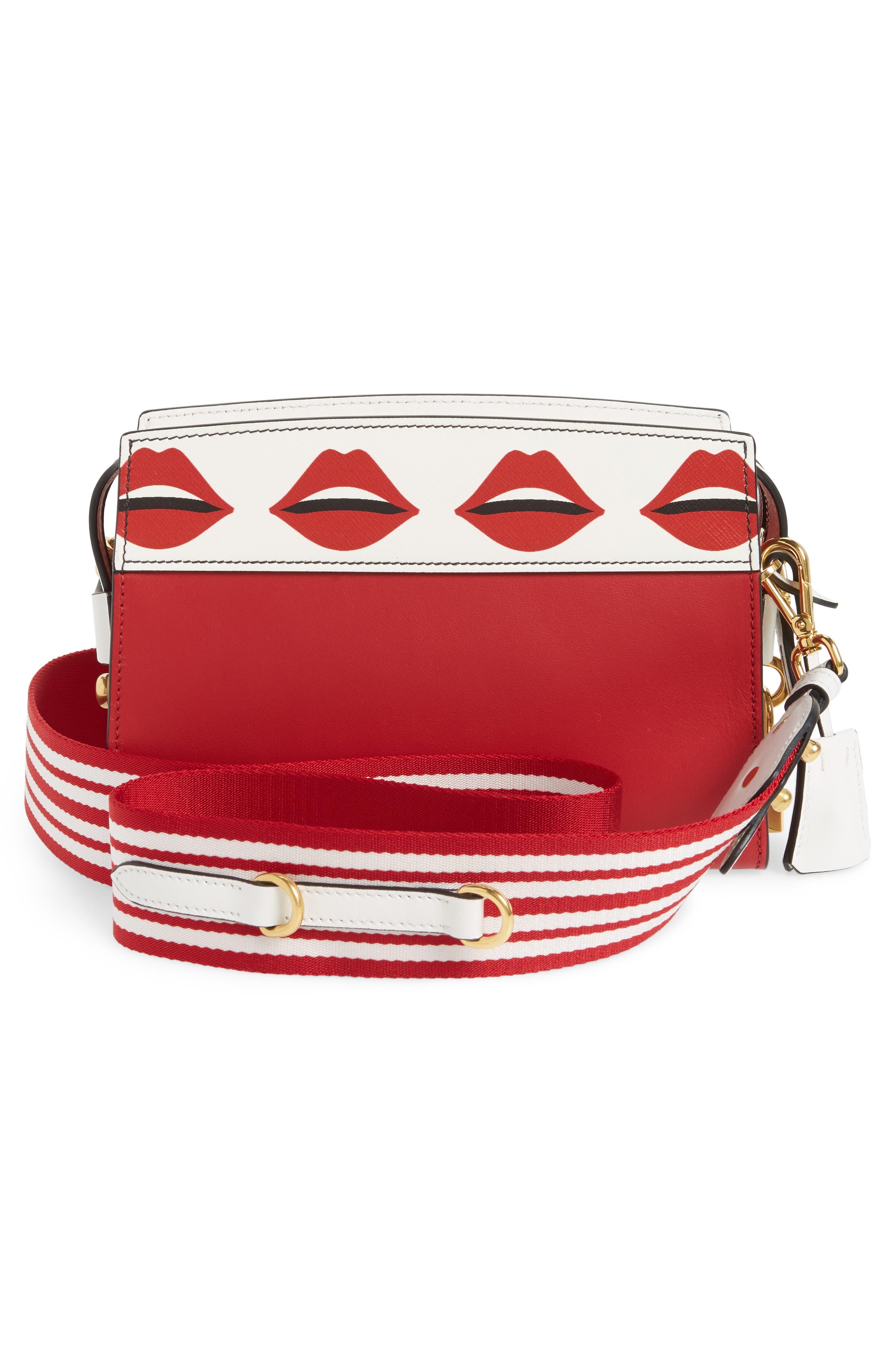 Esplanade Saffiano & City Calfskin Shoulder Bag,                             Alternate thumbnail 3, color,                             Fuoco