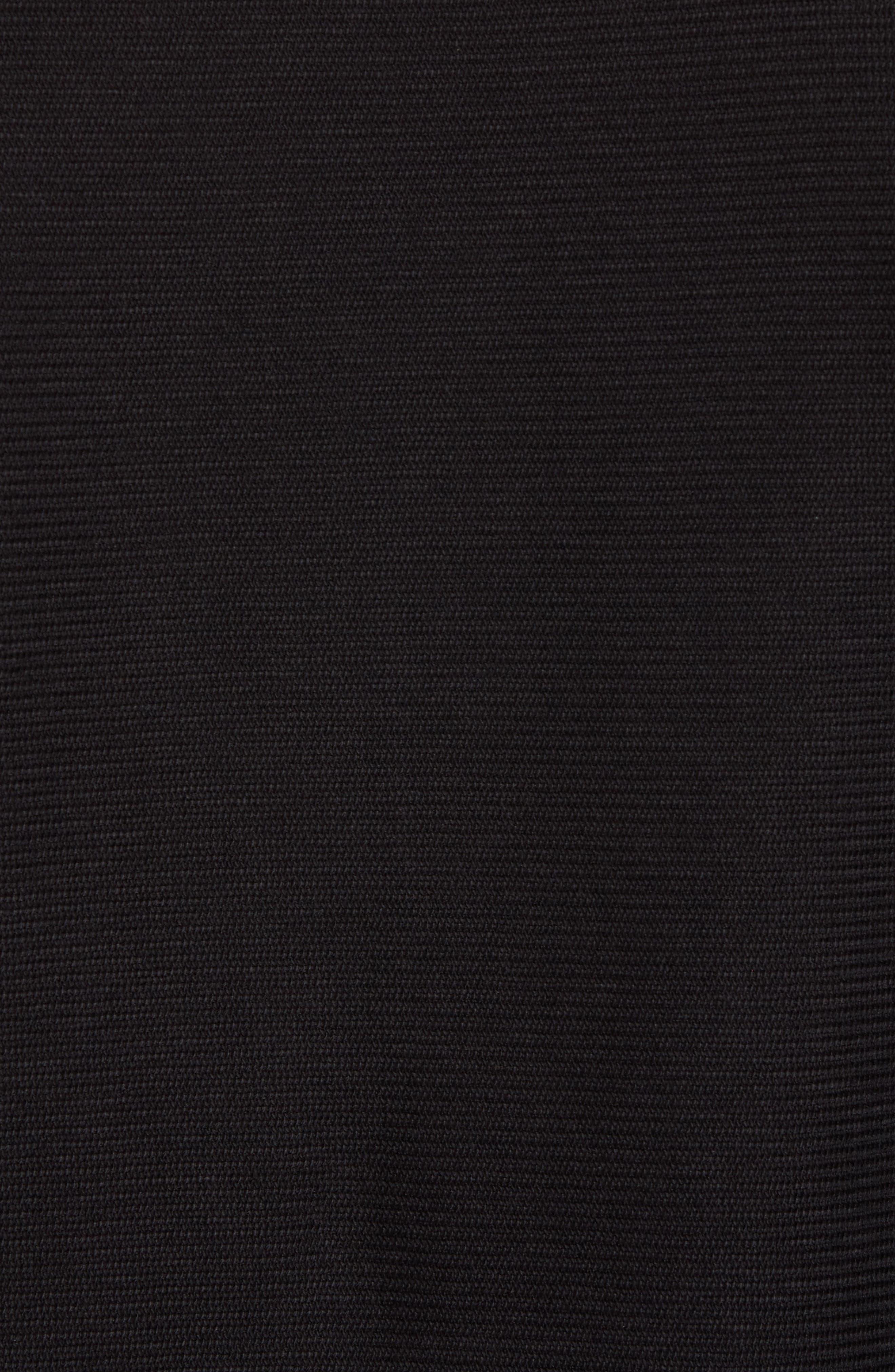 Side Zip Thermal Sweatshirt,                             Alternate thumbnail 5, color,                             Black