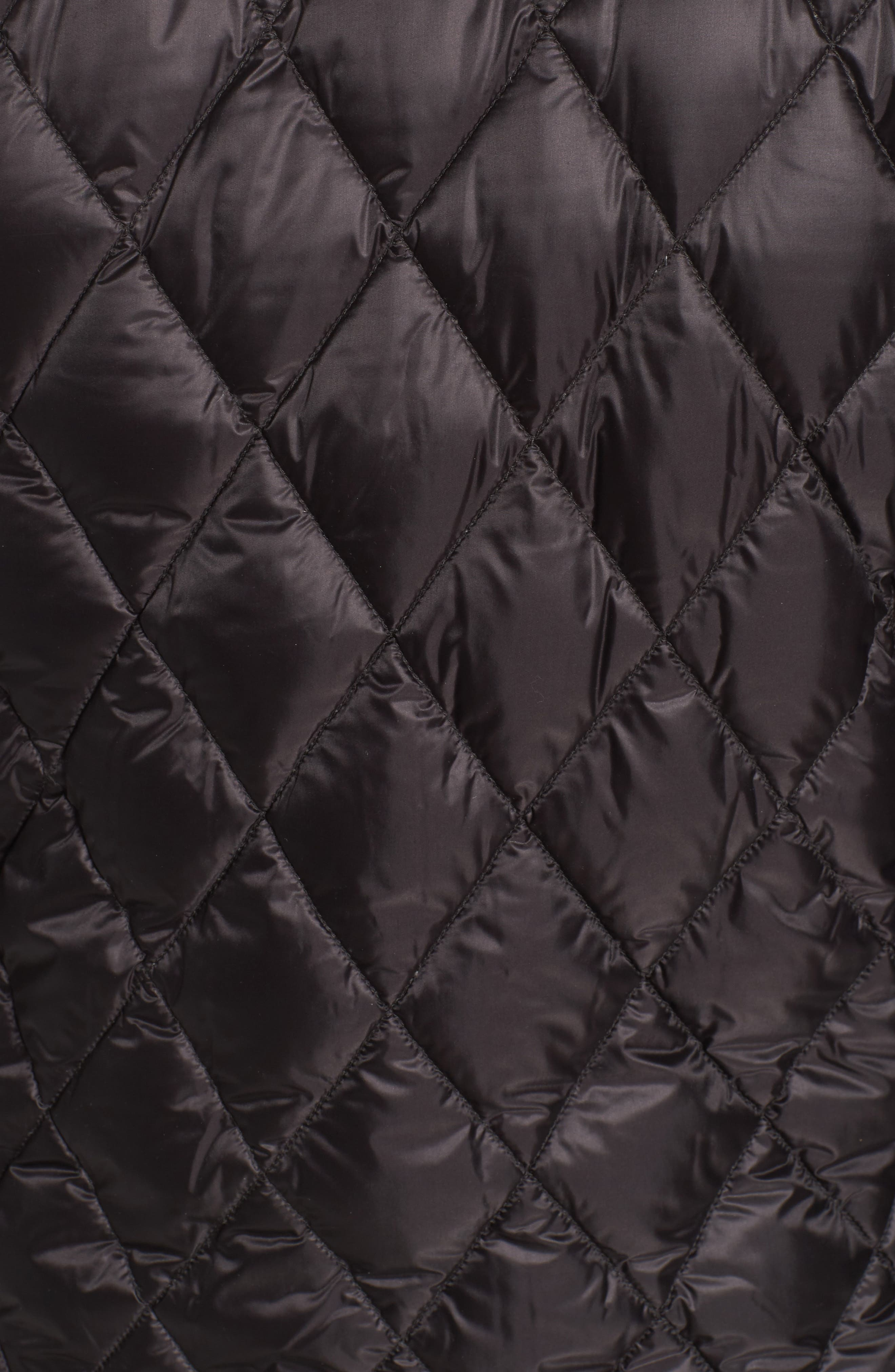 Quilted Down Bomber Jacket,                             Alternate thumbnail 5, color,                             Black