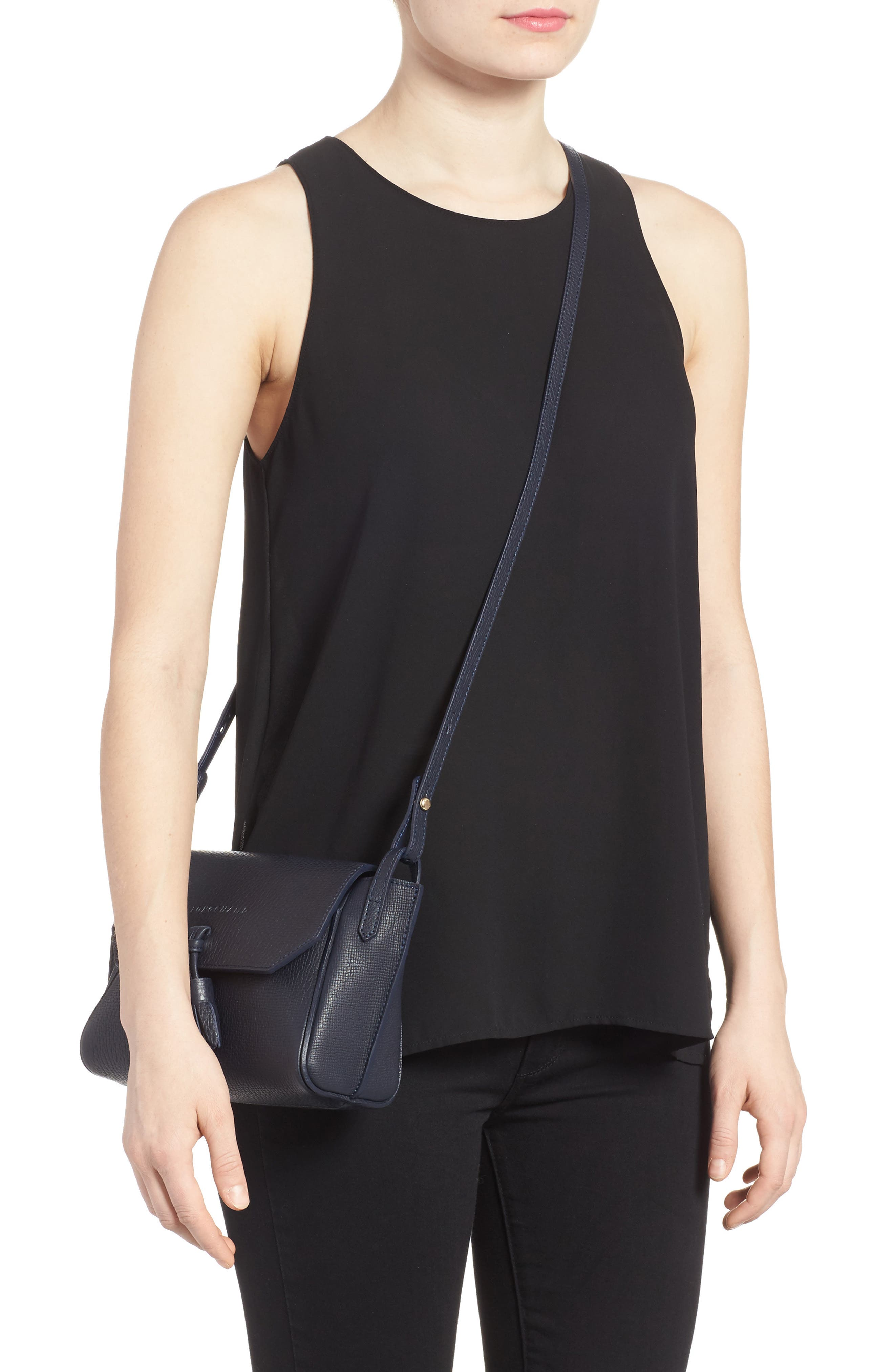 Penelope Leather Crossbody,                             Alternate thumbnail 2, color,                             Midnight