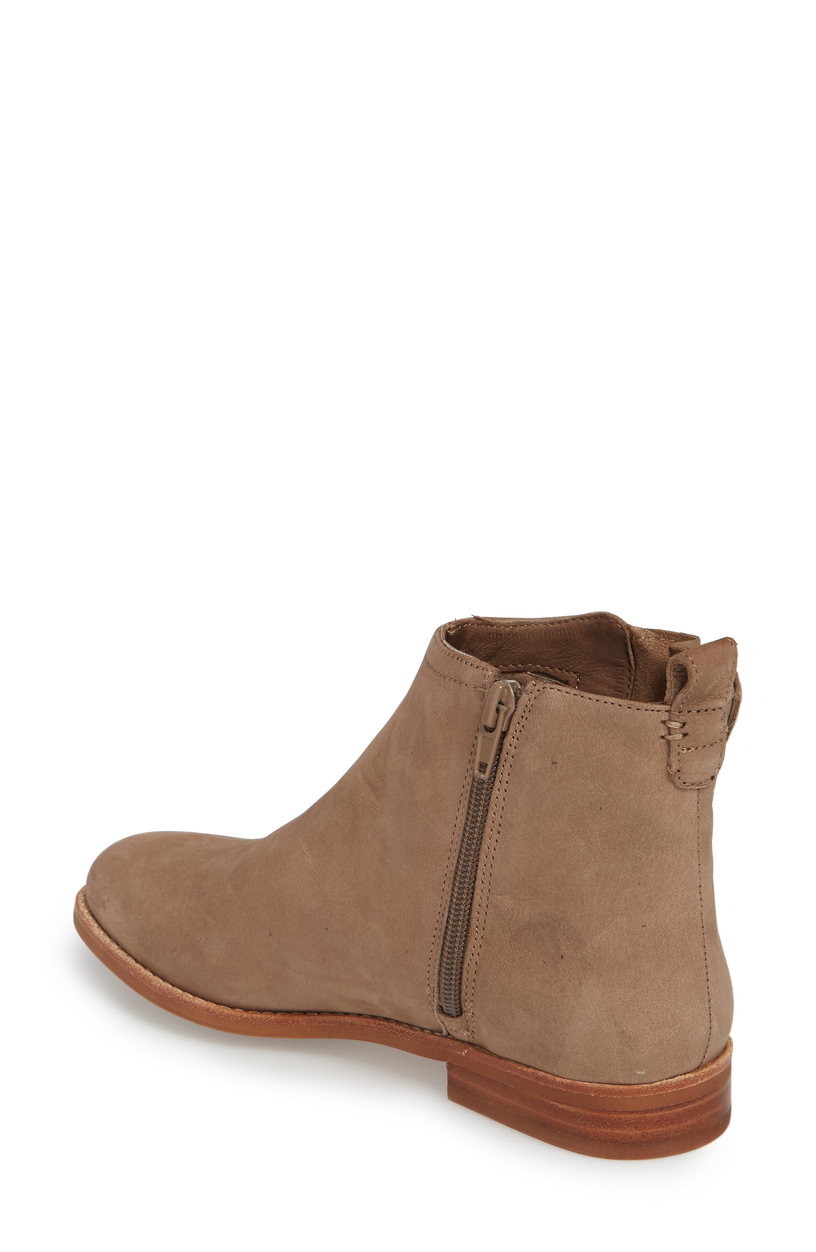 Barbora Gusseted Bootie,                             Alternate thumbnail 2, color,                             Taupe Suede