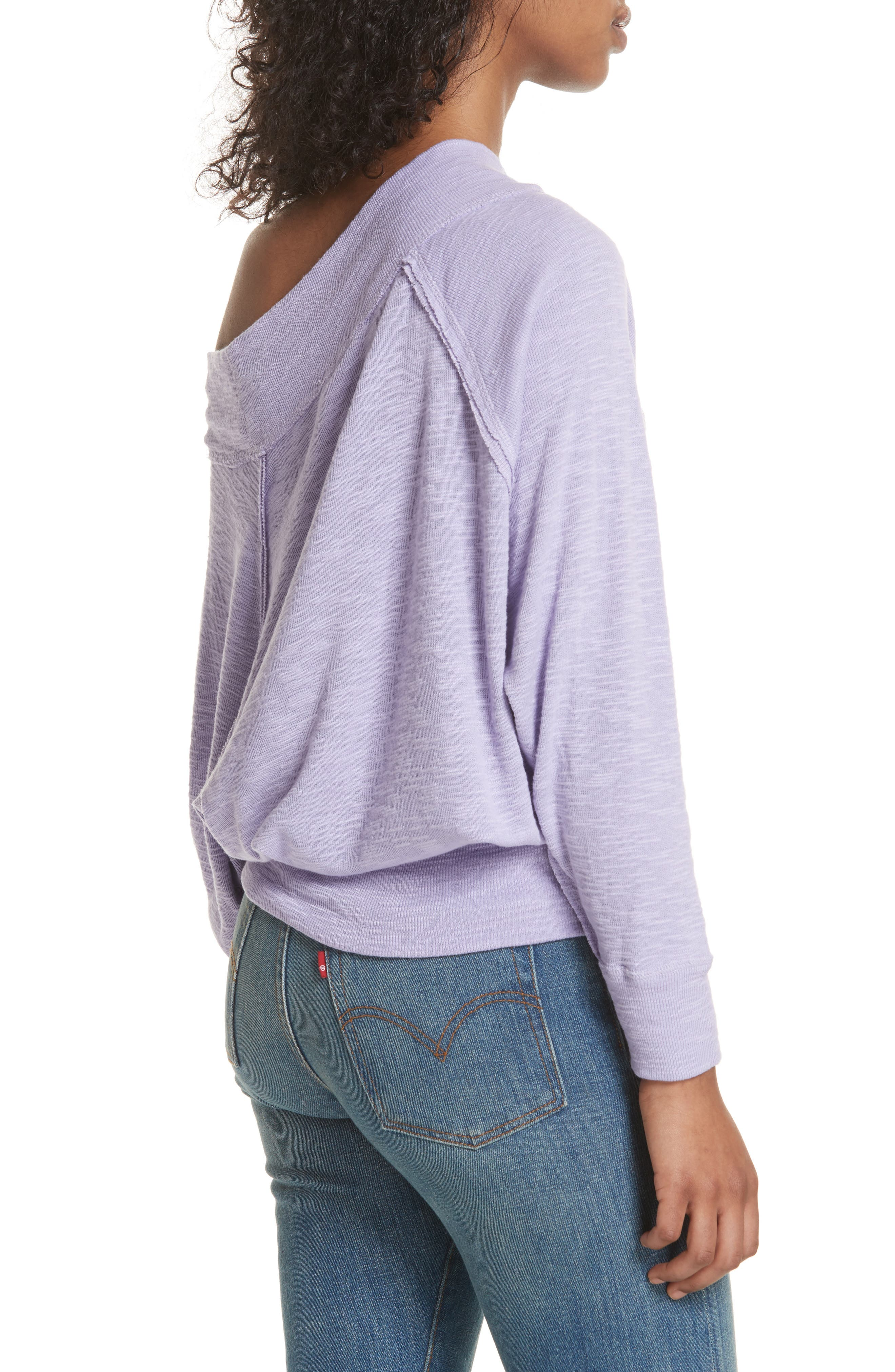 Palisades Off the Shoulder Top,                             Alternate thumbnail 2, color,                             Lilac