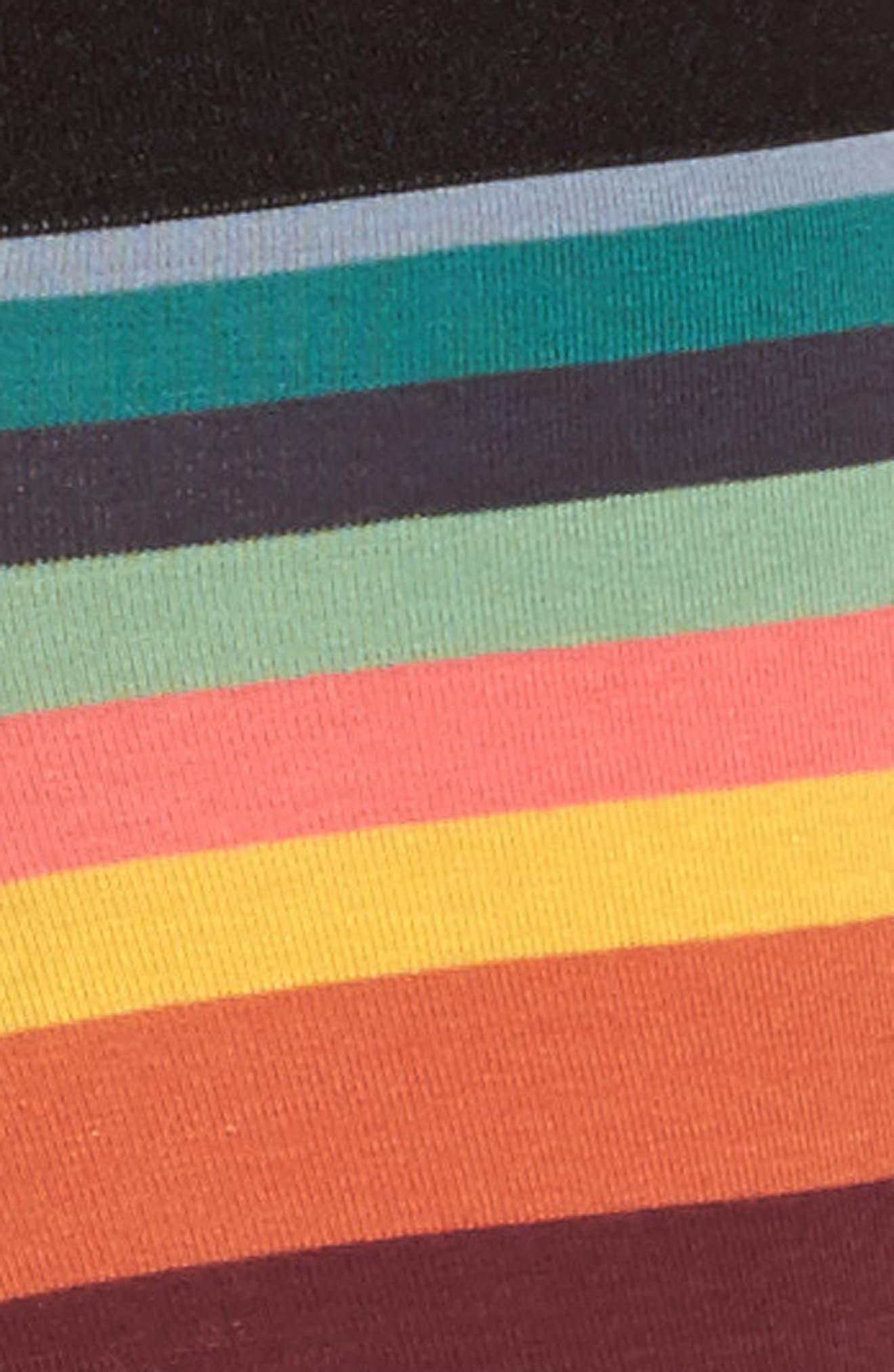 3-Pack Assorted Square Cut Trunks,                             Alternate thumbnail 5, color,                             Black/ Multi Stripe