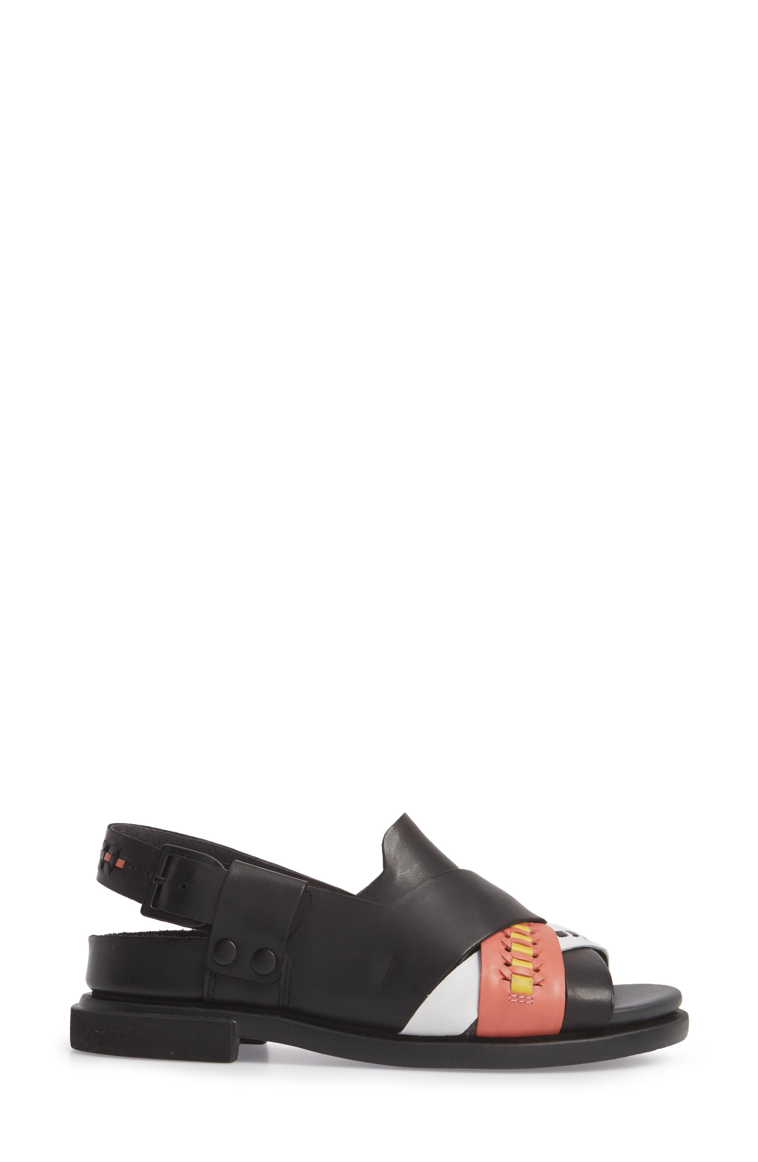 Twins Slingback Sandal,                             Alternate thumbnail 5, color,                             Multi - Assorted Leather