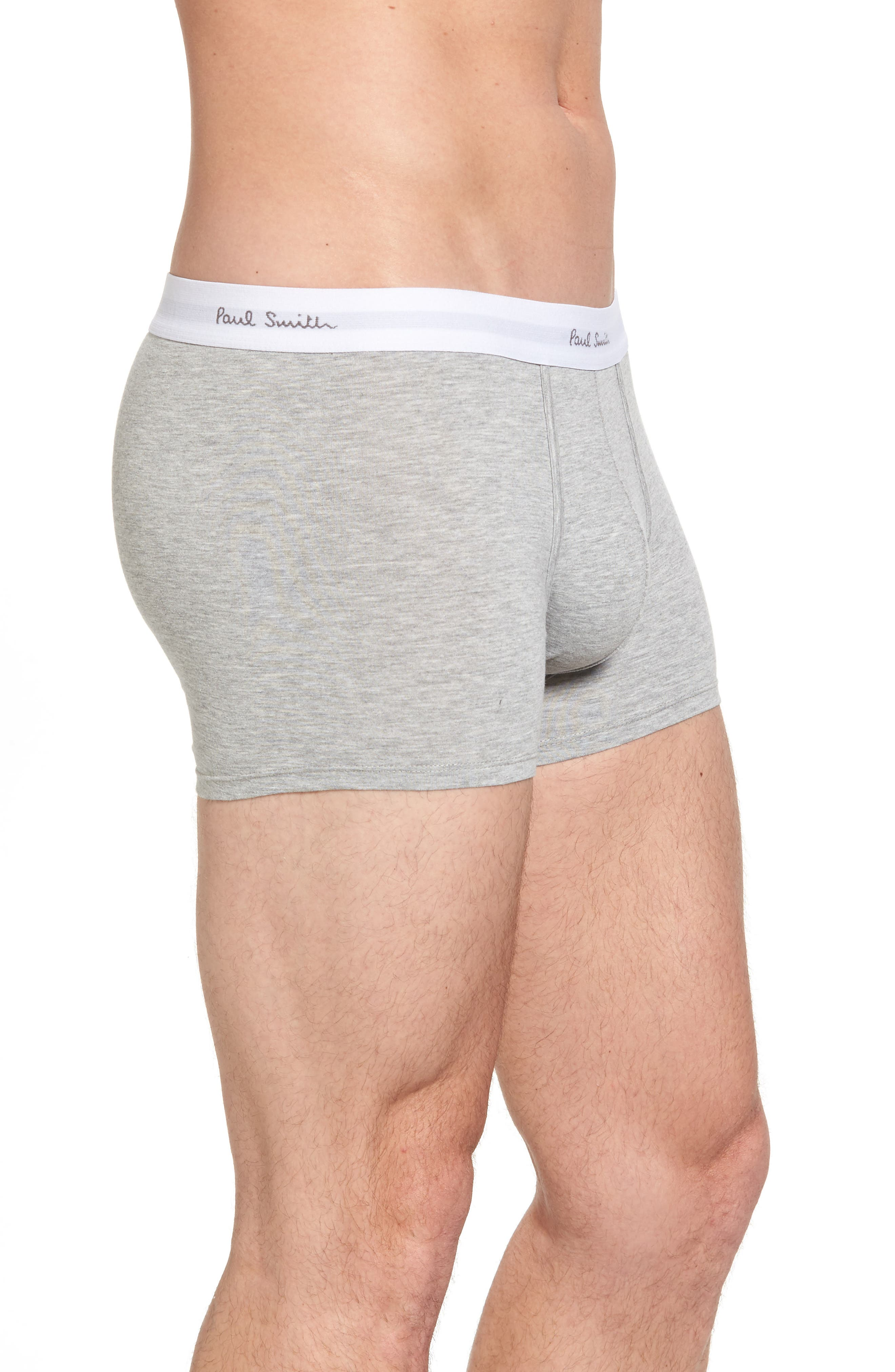3-Pack Square Cut Trunks,                             Alternate thumbnail 4, color,                             Grey
