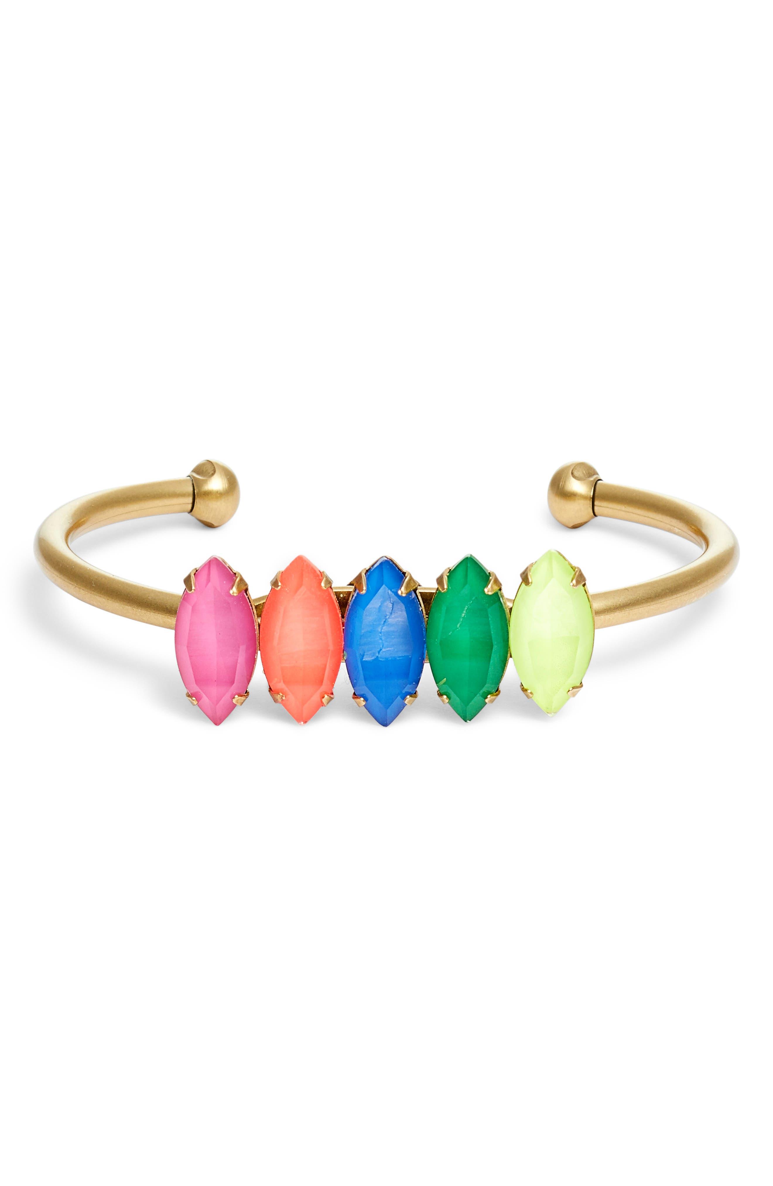 Loren Hope Edie Crystal Cuff Bracelet