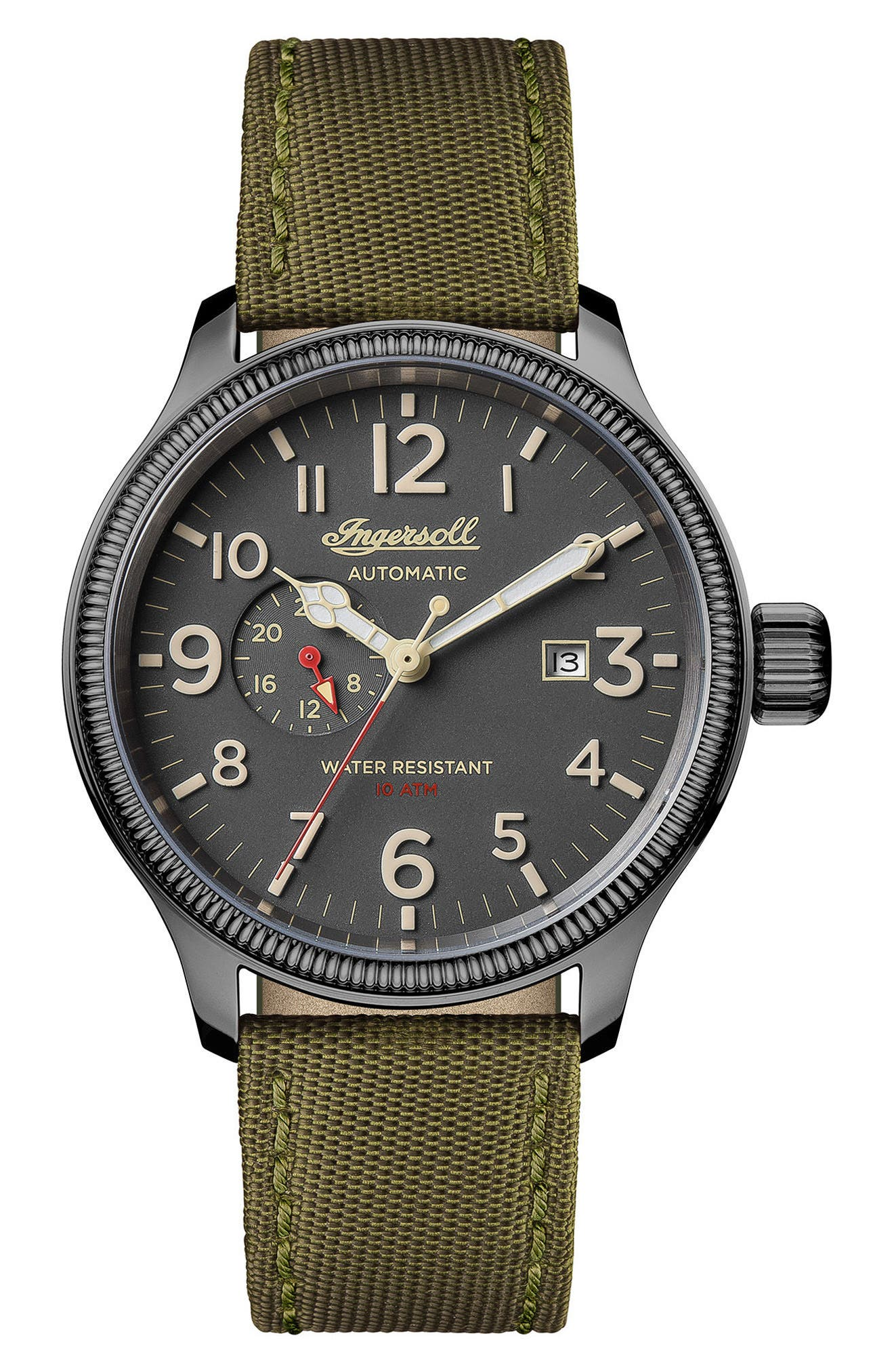 Alternate Image 1 Selected - Ingersoll Apsley Automatic Nylon Strap Watch, 45mm