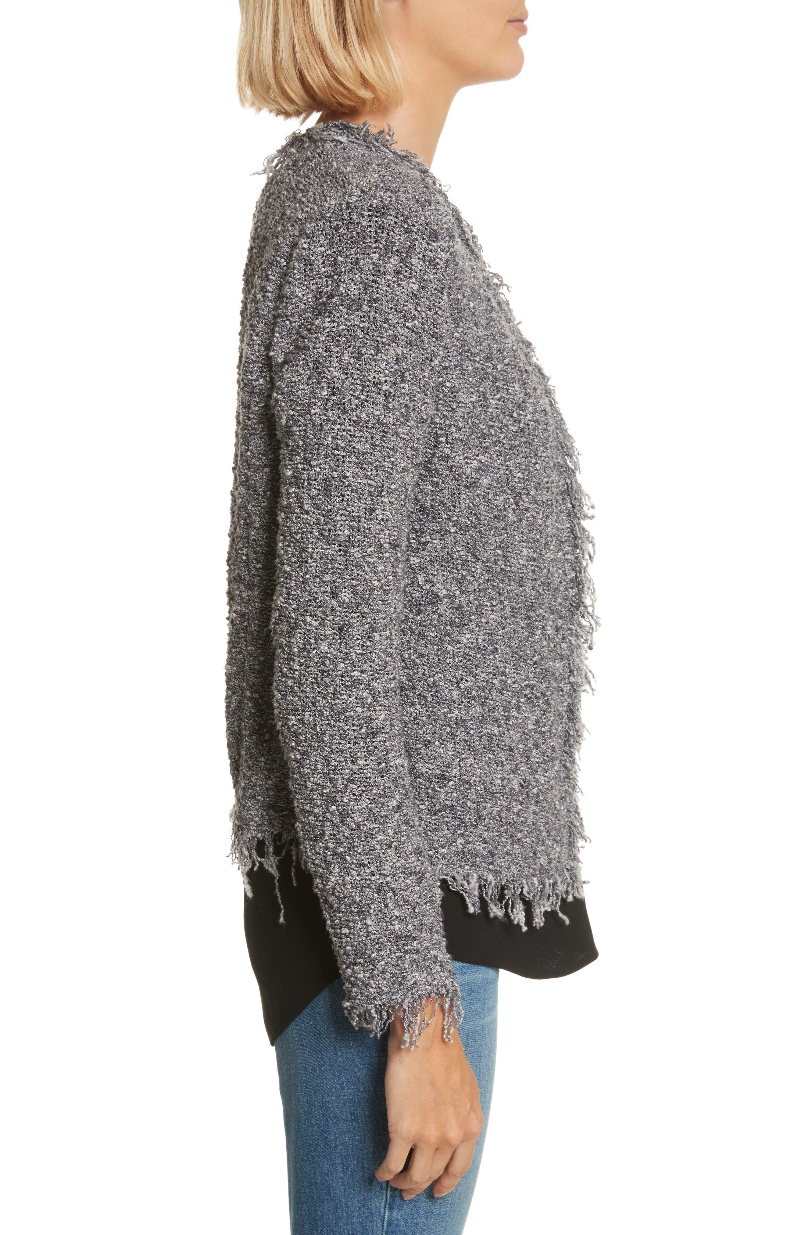 Shavanix Tweed Jacket,                             Alternate thumbnail 3, color,                             Dark Grey