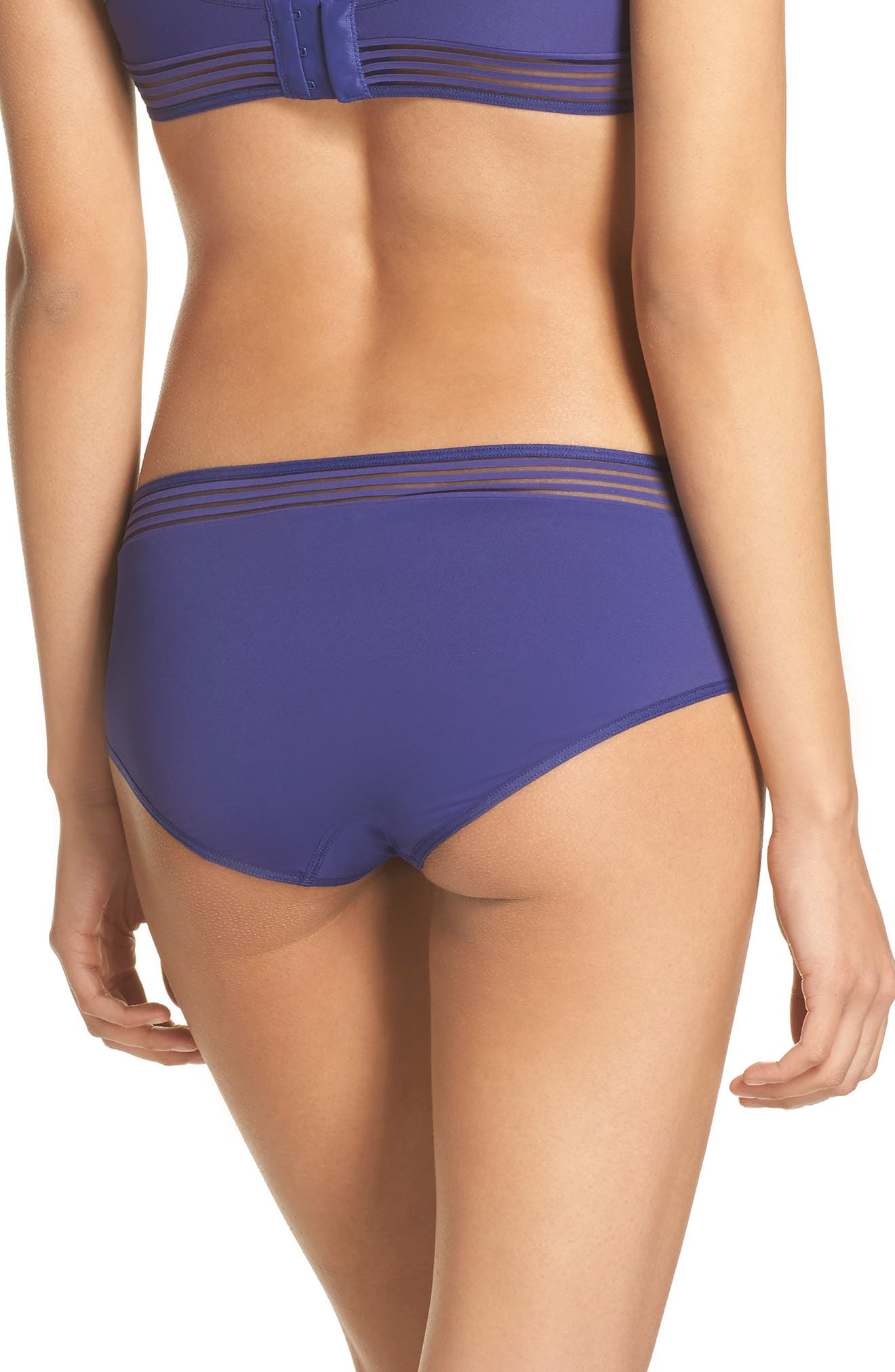Cara Hipster Panties,                             Alternate thumbnail 2, color,                             Violet Blue