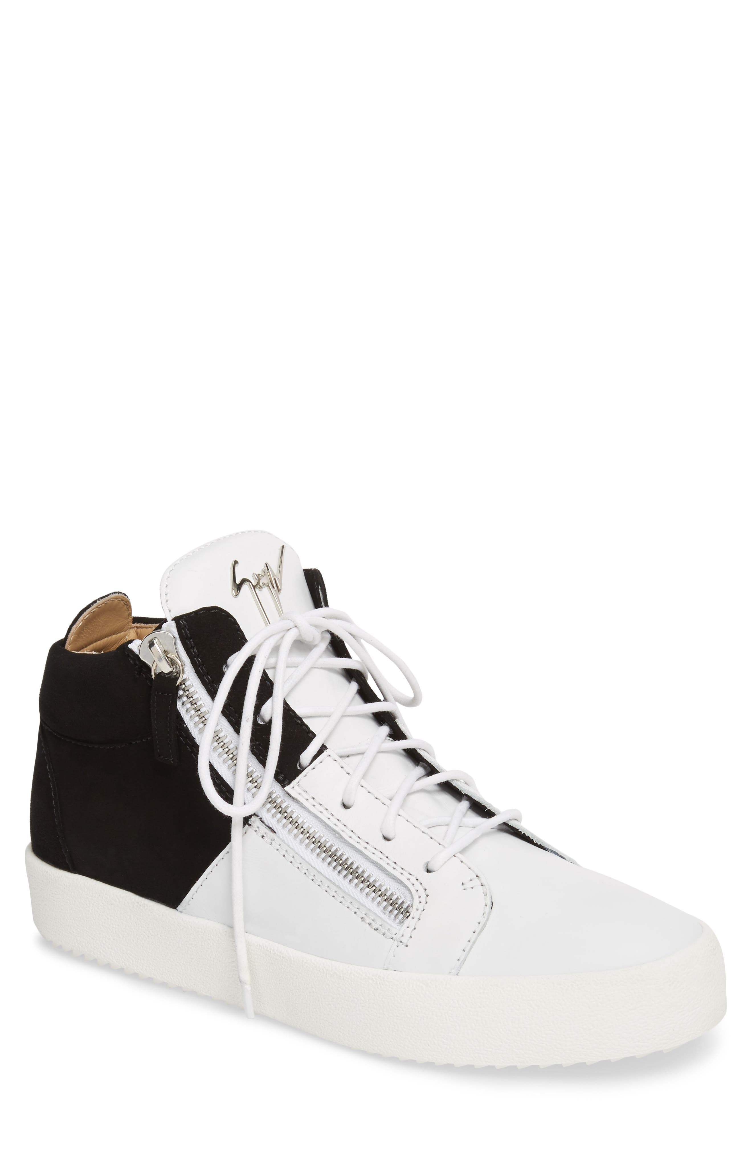 Exposed Sneaker,                             Main thumbnail 1, color,                             Black/White