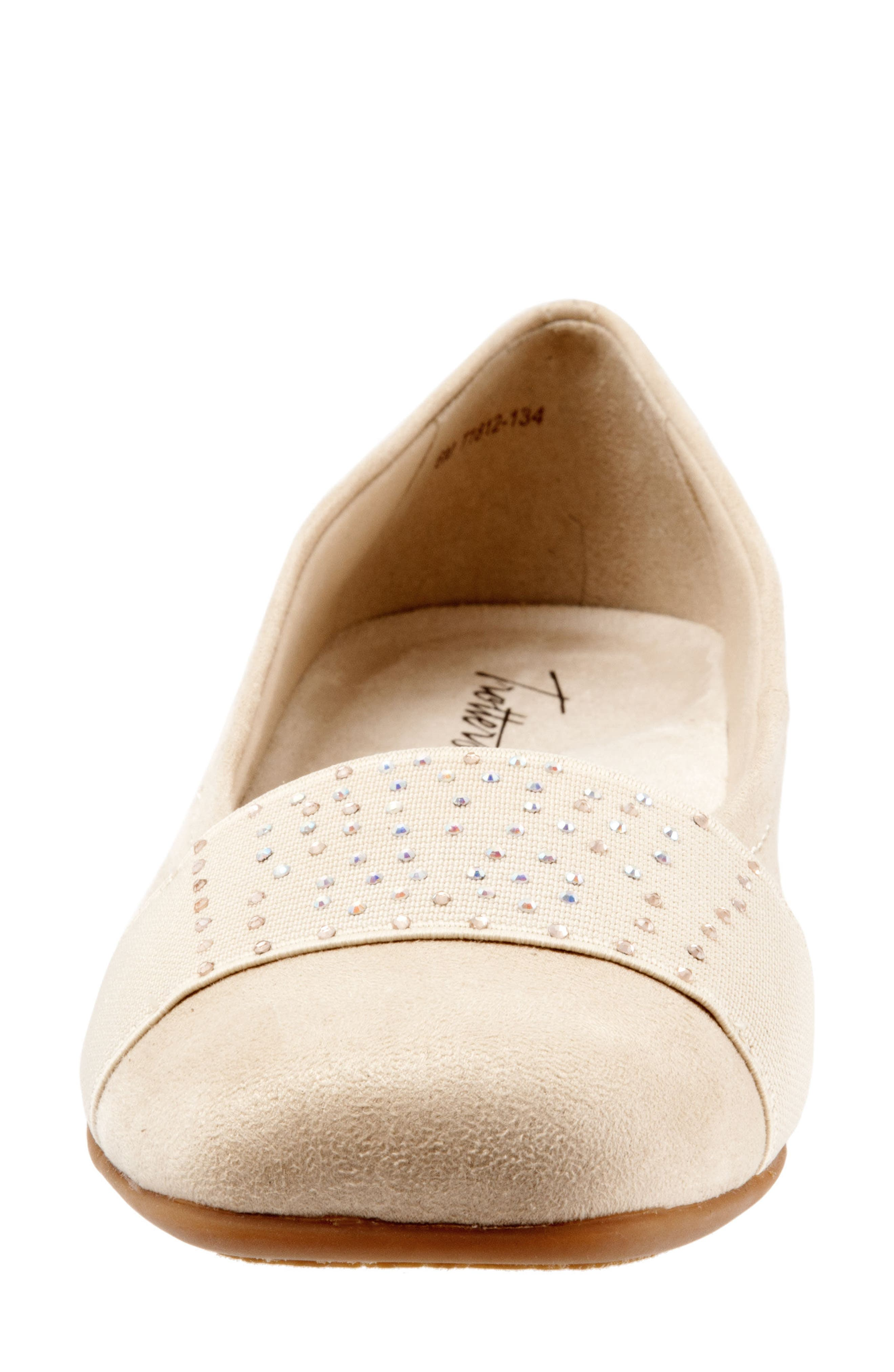 Samantha Flat,                             Alternate thumbnail 4, color,                             Nude Suede