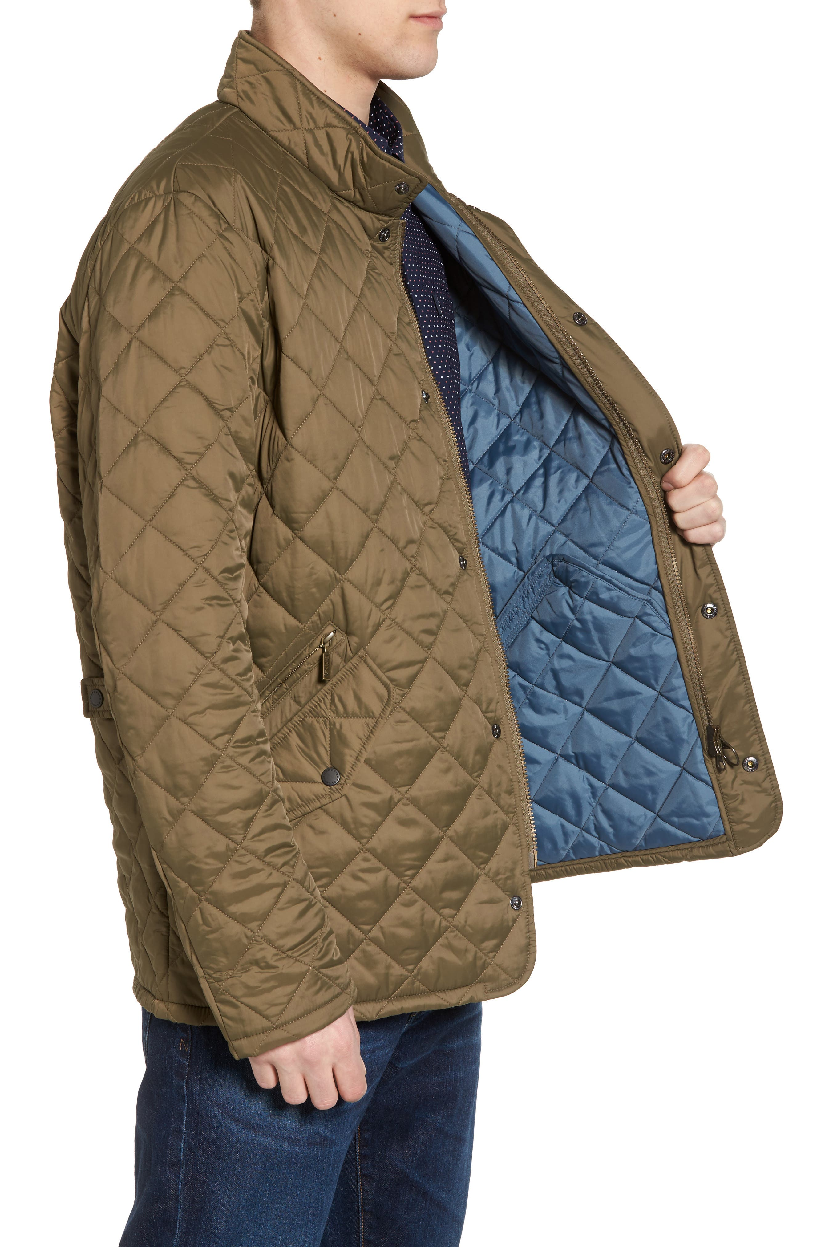 Flyweight Chelsea Quilted Jacket,                             Alternate thumbnail 3, color,                             Clay
