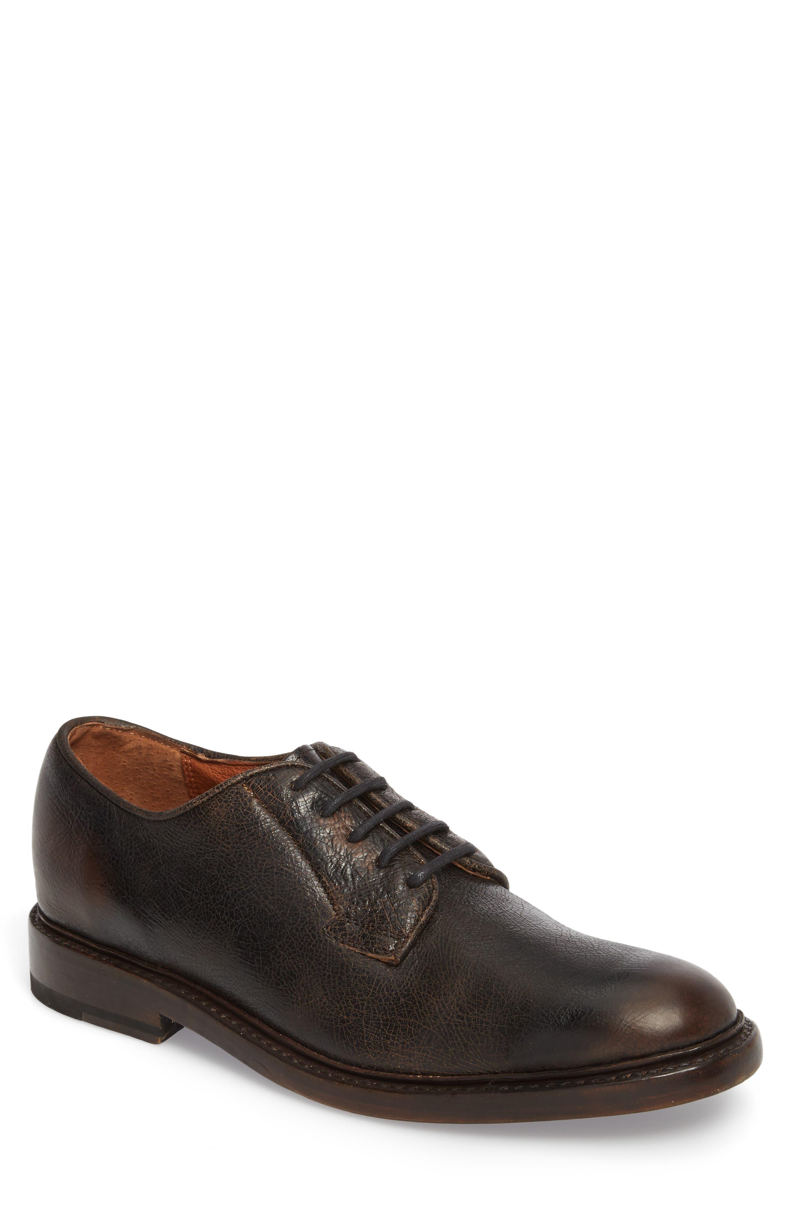 Jones Plain Toe Derby,                             Main thumbnail 1, color,                             Dark Brown Leather