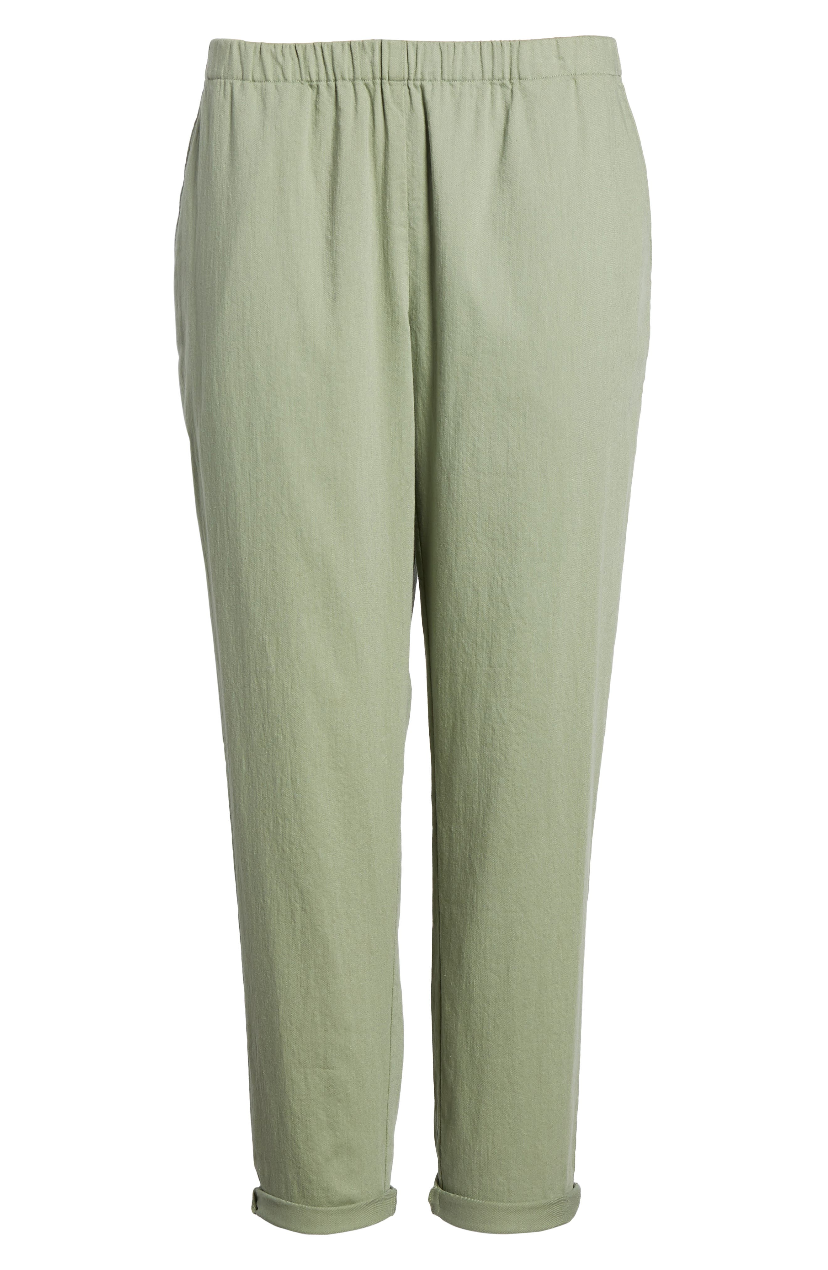 Organic Cotton Tapered Ankle Pants,                             Alternate thumbnail 7, color,                             Glen