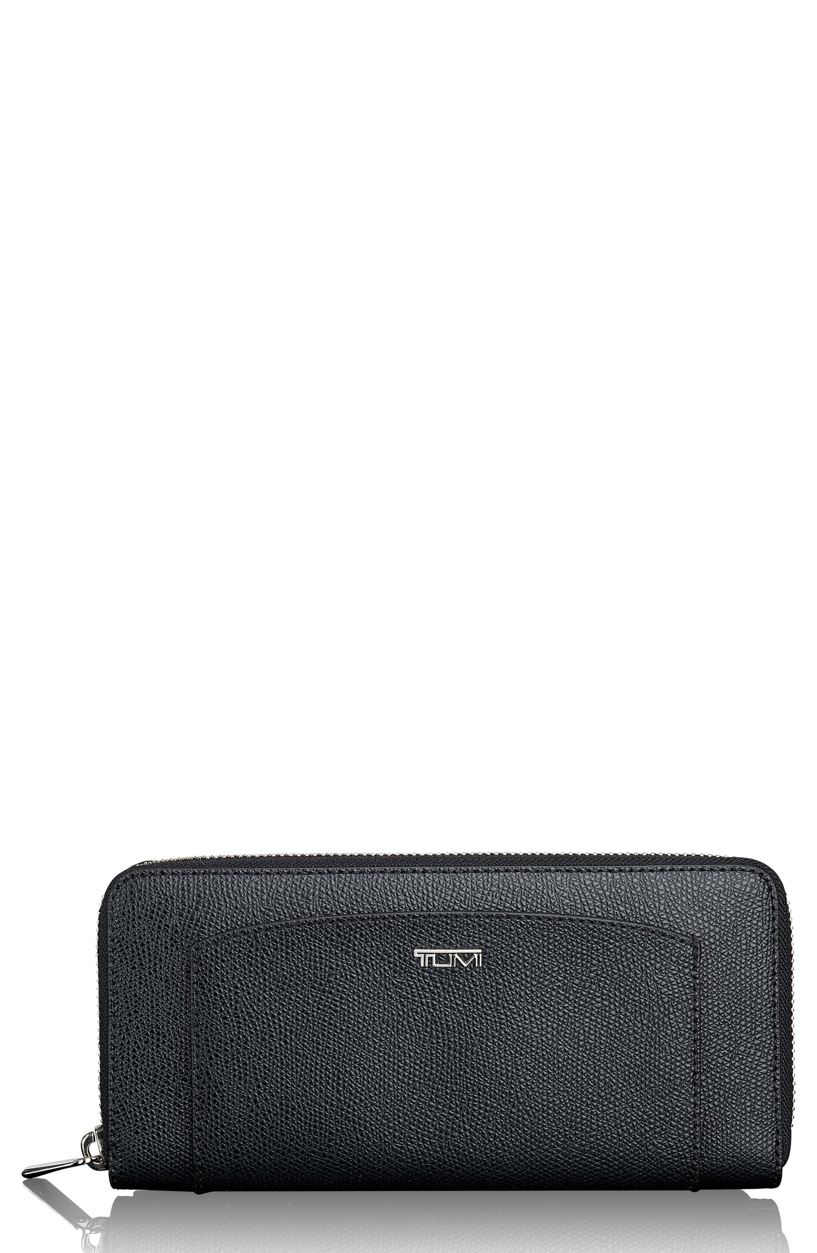 Zip Around Continental Wallet,                         Main,                         color, Black